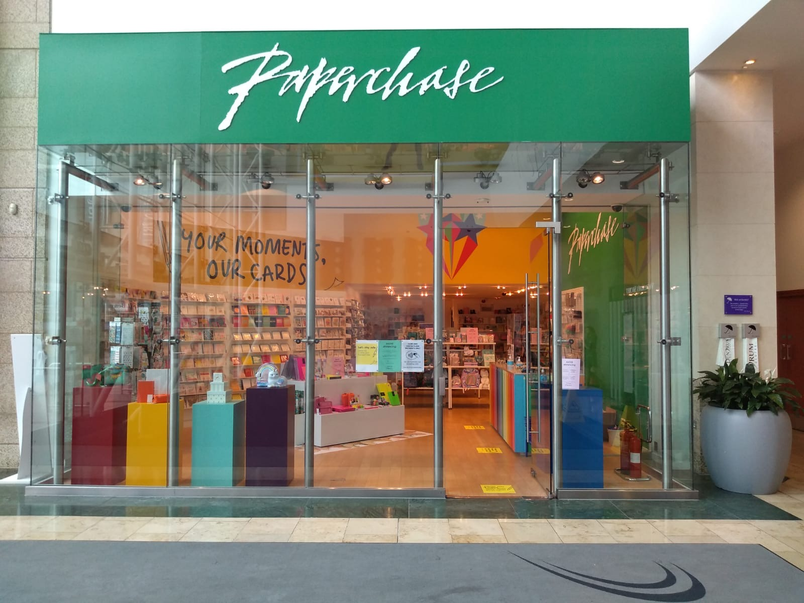 Above: The new store in Dublin's Dundrum centre is Paperchase's first standalone store in the Republic of Ireland's capital.