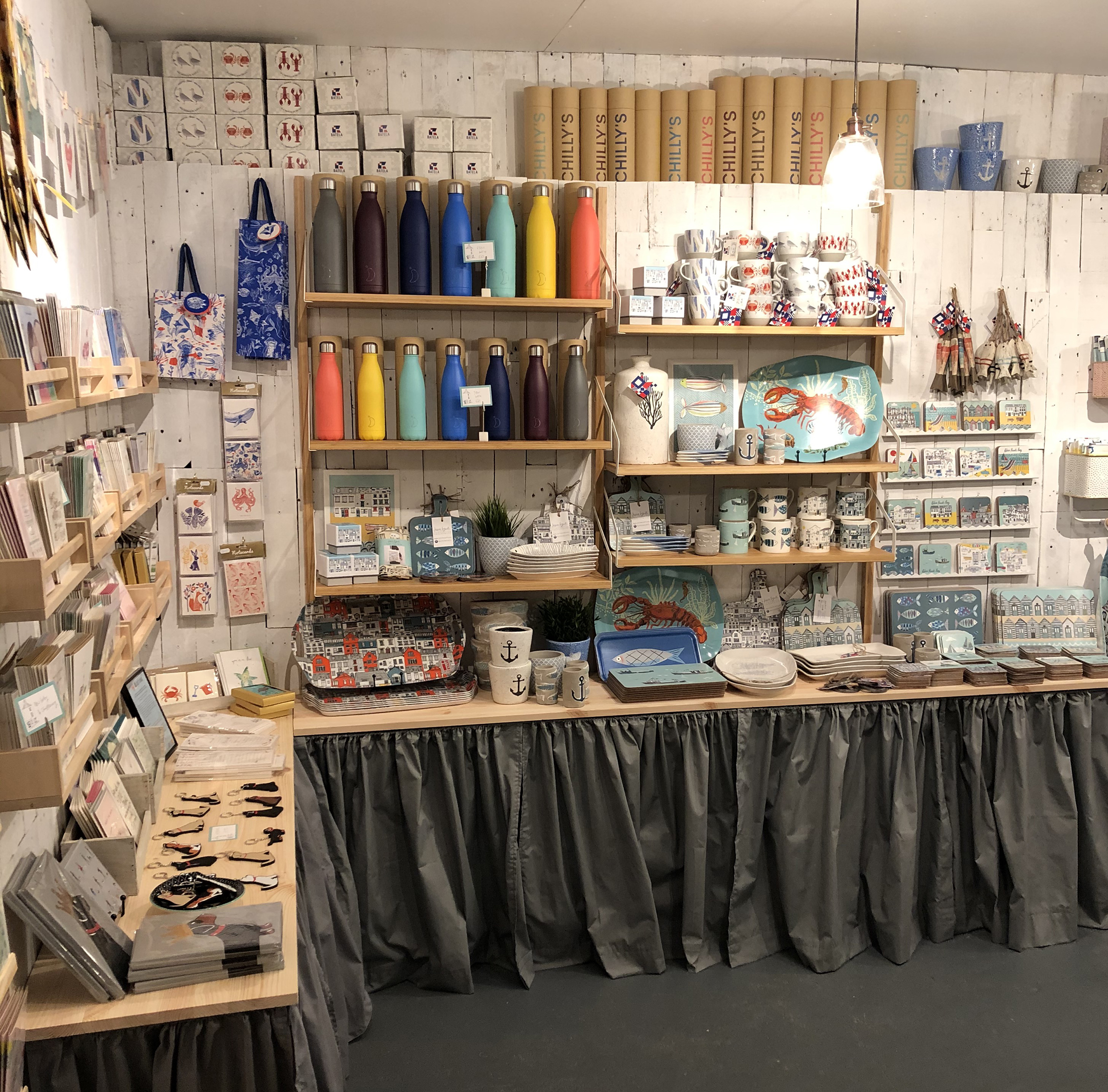 Above: The new Jessica Hogarth shop offers an array of cards, homewares and gifts, including products featuring the owner's distinctive illustrative style.