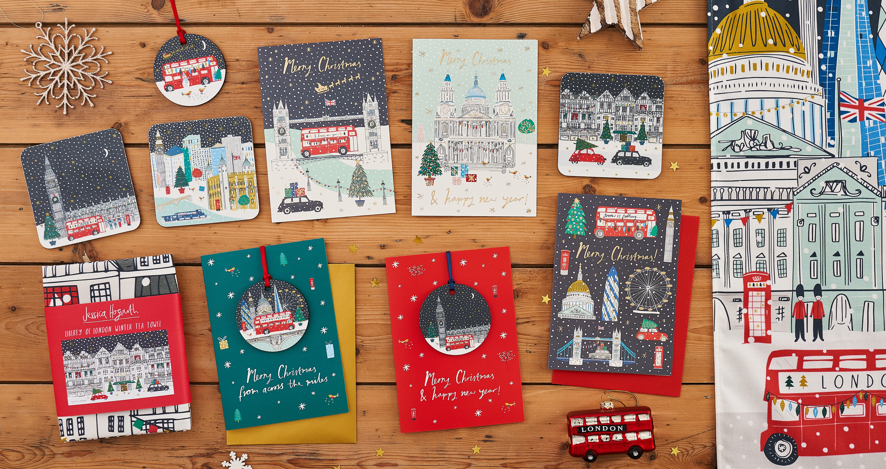 Above: Some of the Christmas collection from Jessica Hogarth.
