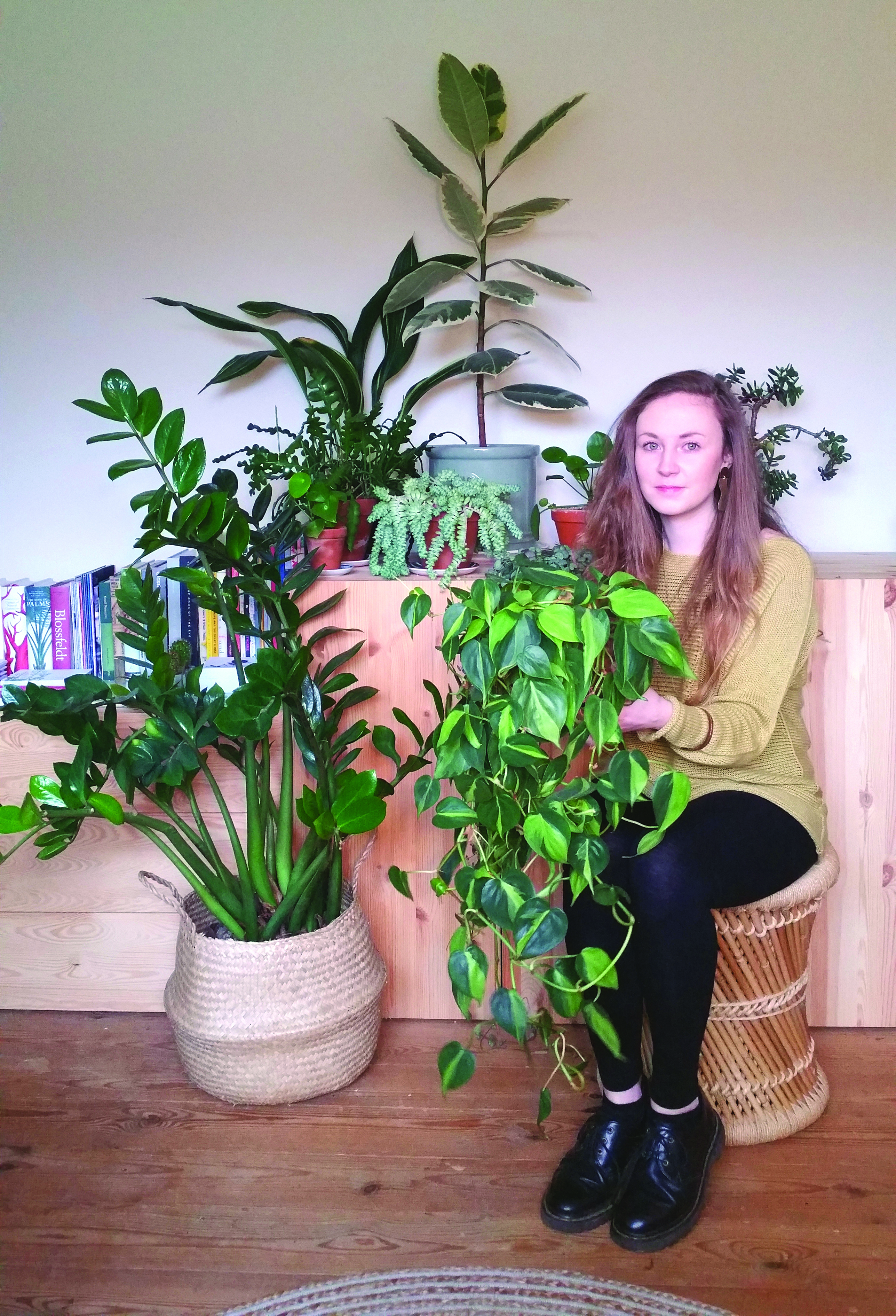 Above: Lianne and some of her botanical babies.