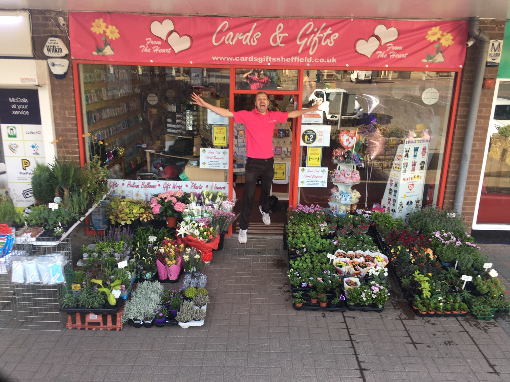 Above: Carl Dunne outside the new store in Dronfield.