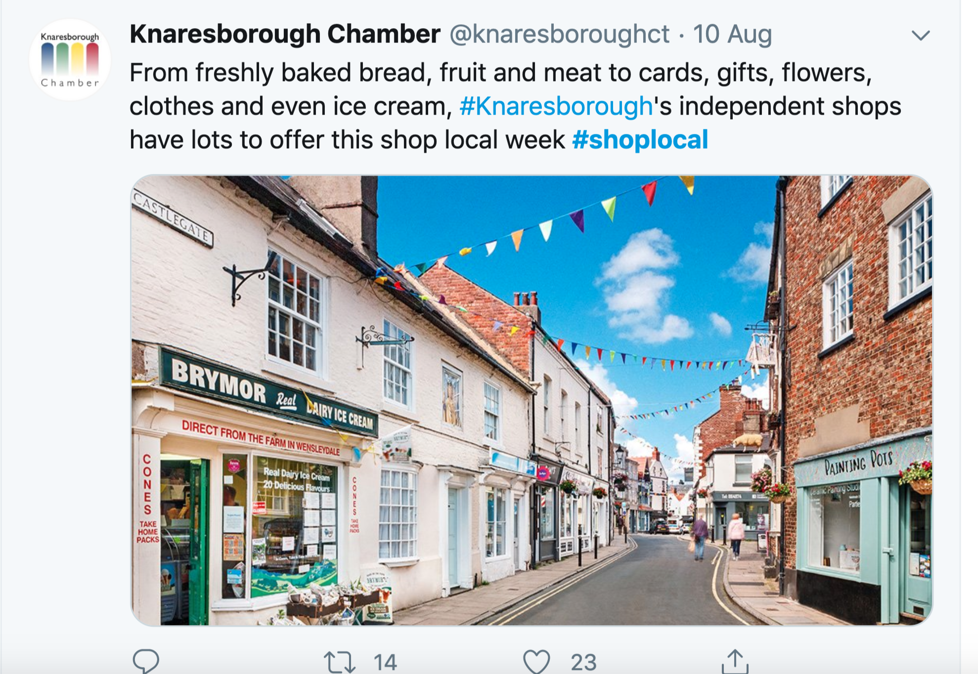 Above: The Government has joined forces with other business groups, such as Small Business Saturday and Federation of Small Businesses as well as local town groups to promote the Shop Local campaign.