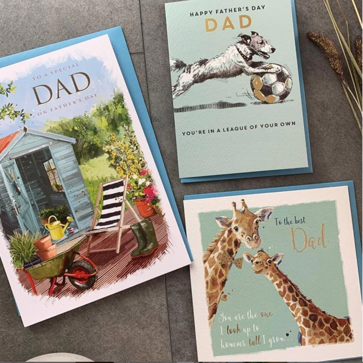Above: A selection of Father's Day cards from Ling Design.