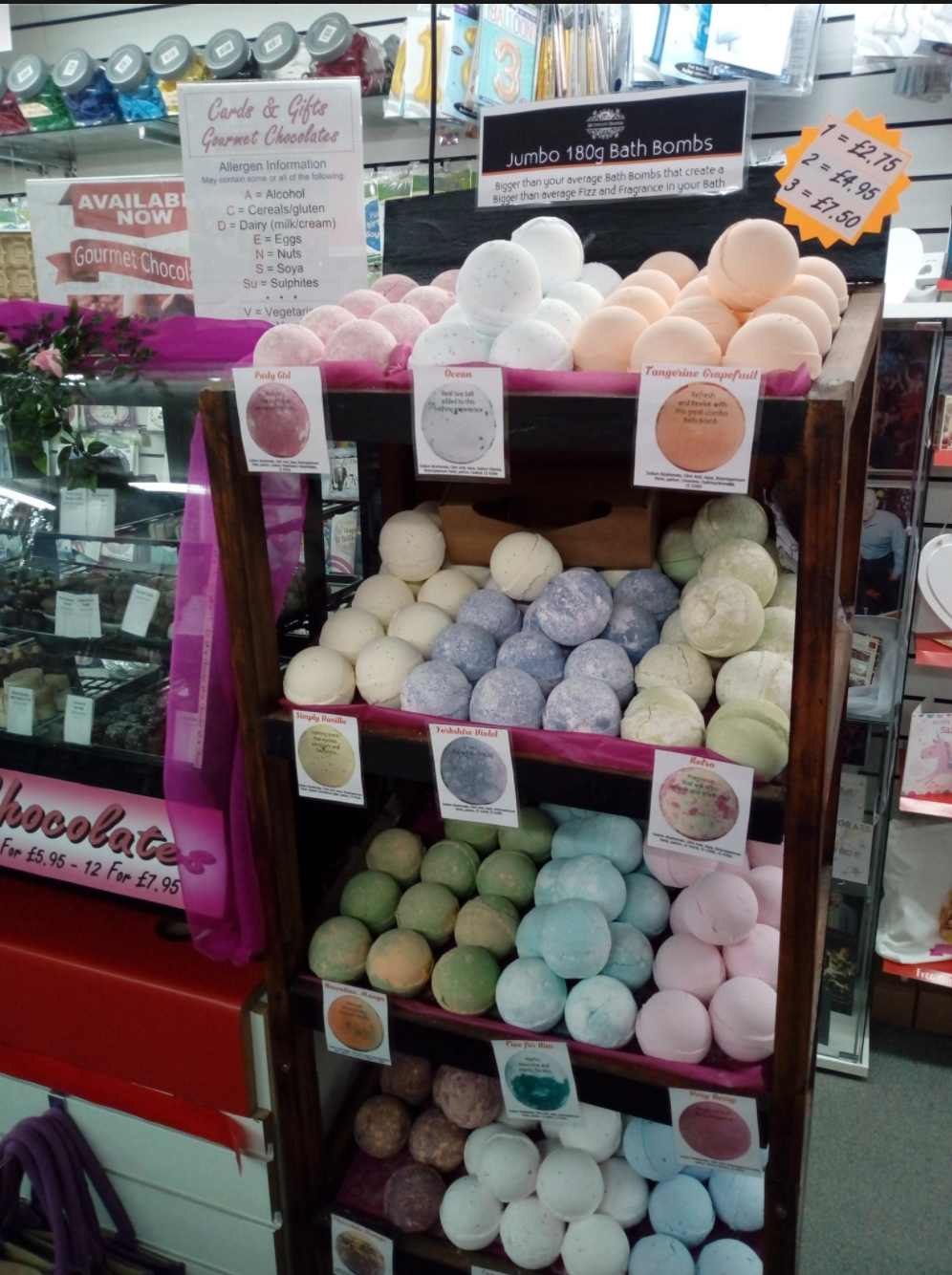 Above: These bath bombs are going down a…bomb!