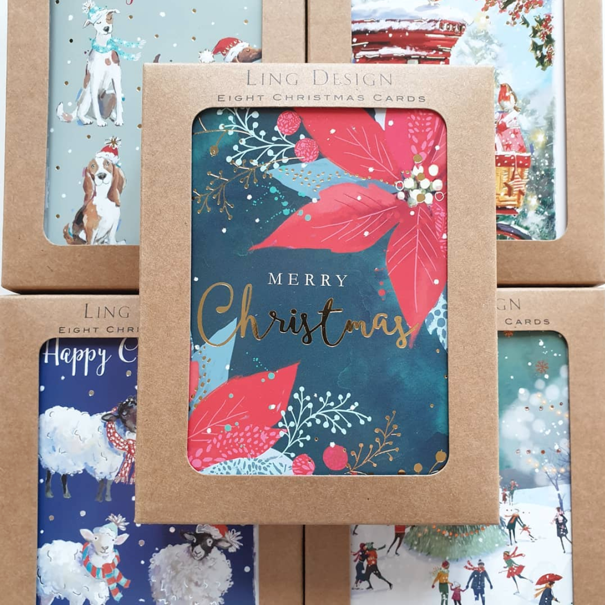 Above: For Christmas 2020 GBCC/Ling has made changes to its boxed cards, saving 3.5 tonnes of plastic without compromising on product quality.