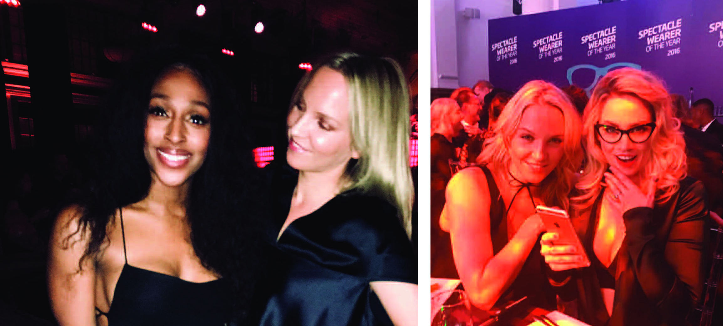 Above: Ellie Fitzgerald with Alexandra Burke (former winner of the X Factor) and Pussycat Dolls' Kimberly Wyatt.