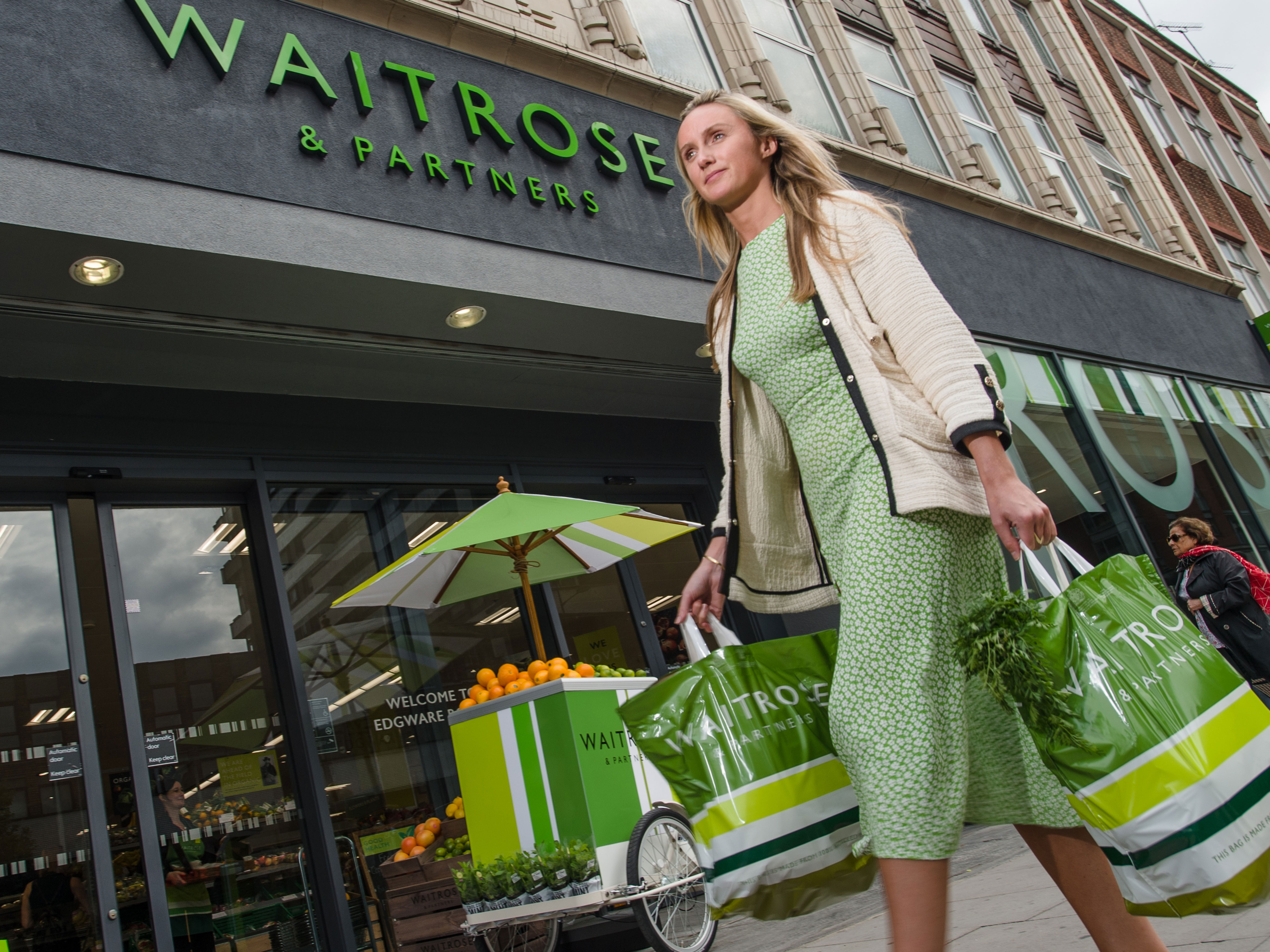 Above: Waitrose card sales are up double digit since the new replans from Woodmansterne's brokerage went in.