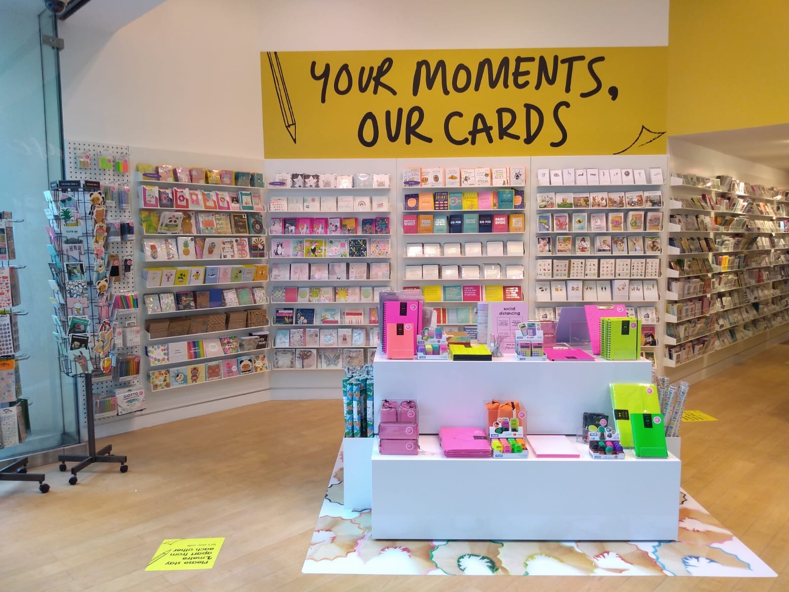 Above: Inside Paperchase's Dundrum store, the first standalone for the retailer in Eire which opened recently.
