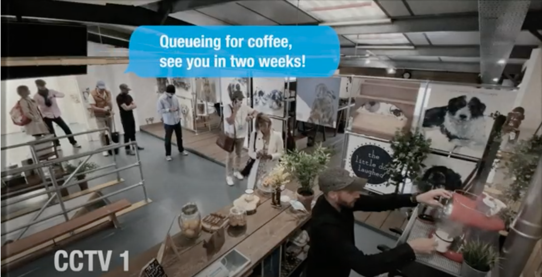 Above: Queuing for coffee is just part of a trade show, as everyone knows!