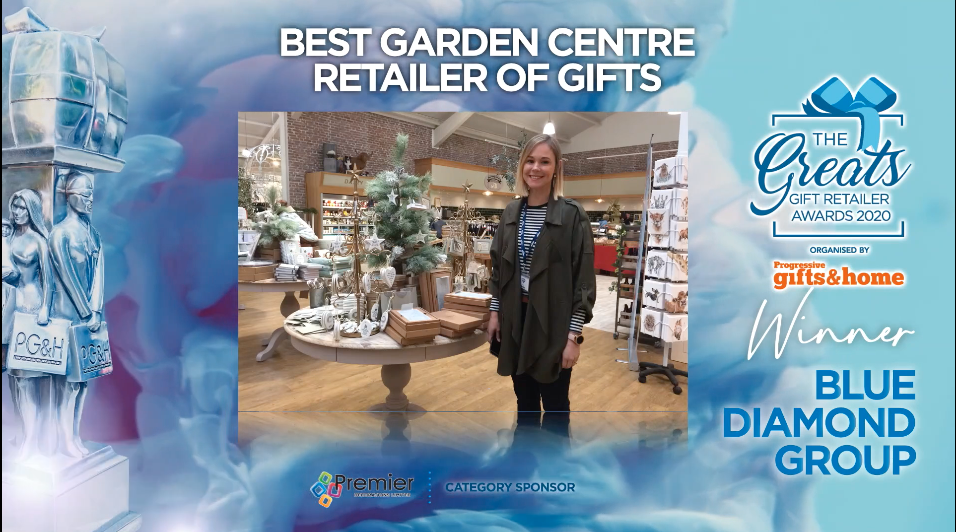 Above: Having been feted in The Retas last year for its greeting card excellence, Blue Diamond Group has now also been recognised for its gift retailing prowess.