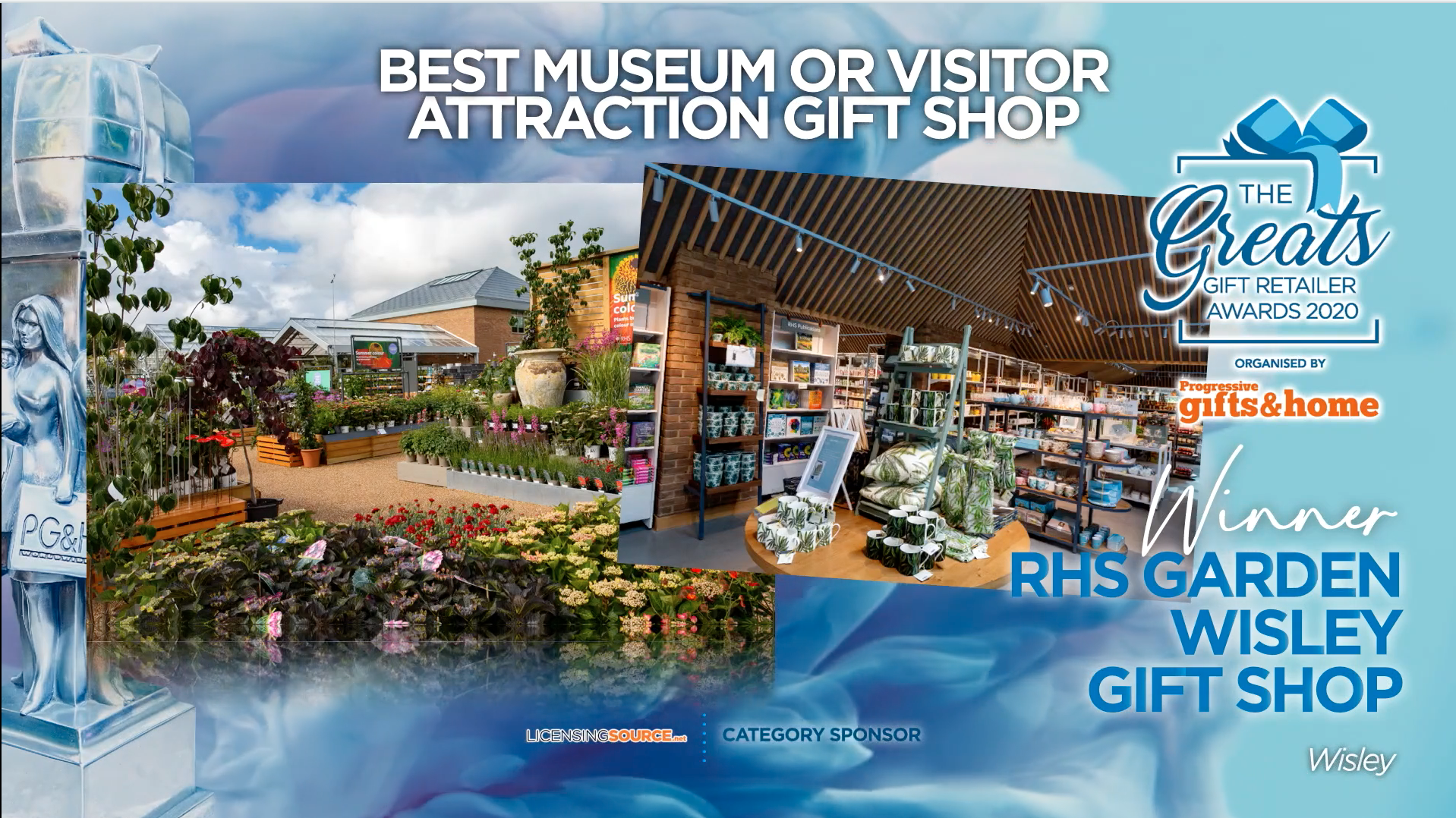Above: A totally revamped card and gift shop offer has been 'blooming' great for RHS Wisley.