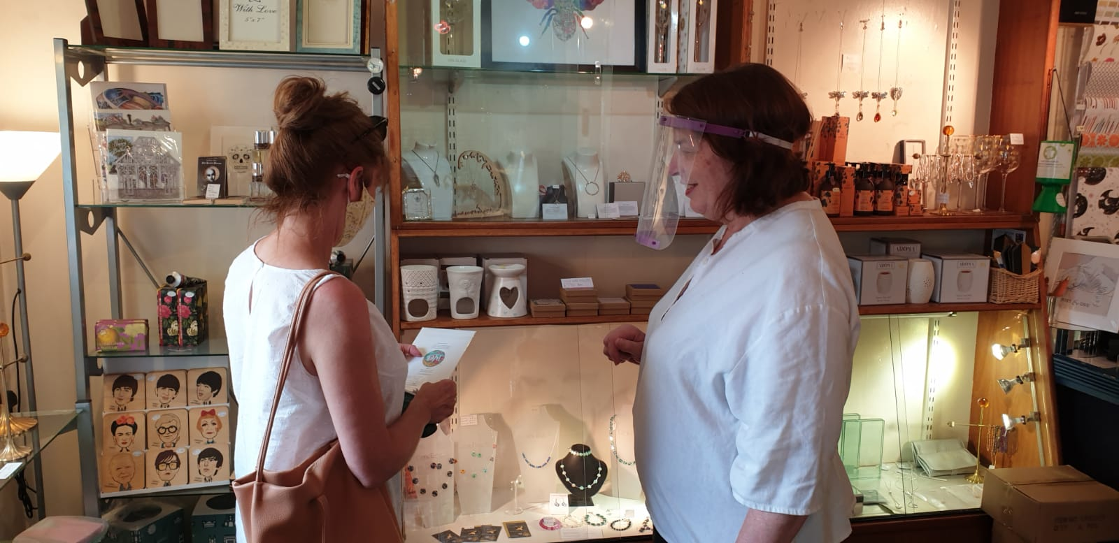 Above: Jenny (left) with Irene Bayliss, owner of Harriet & Dee in Didsbury.