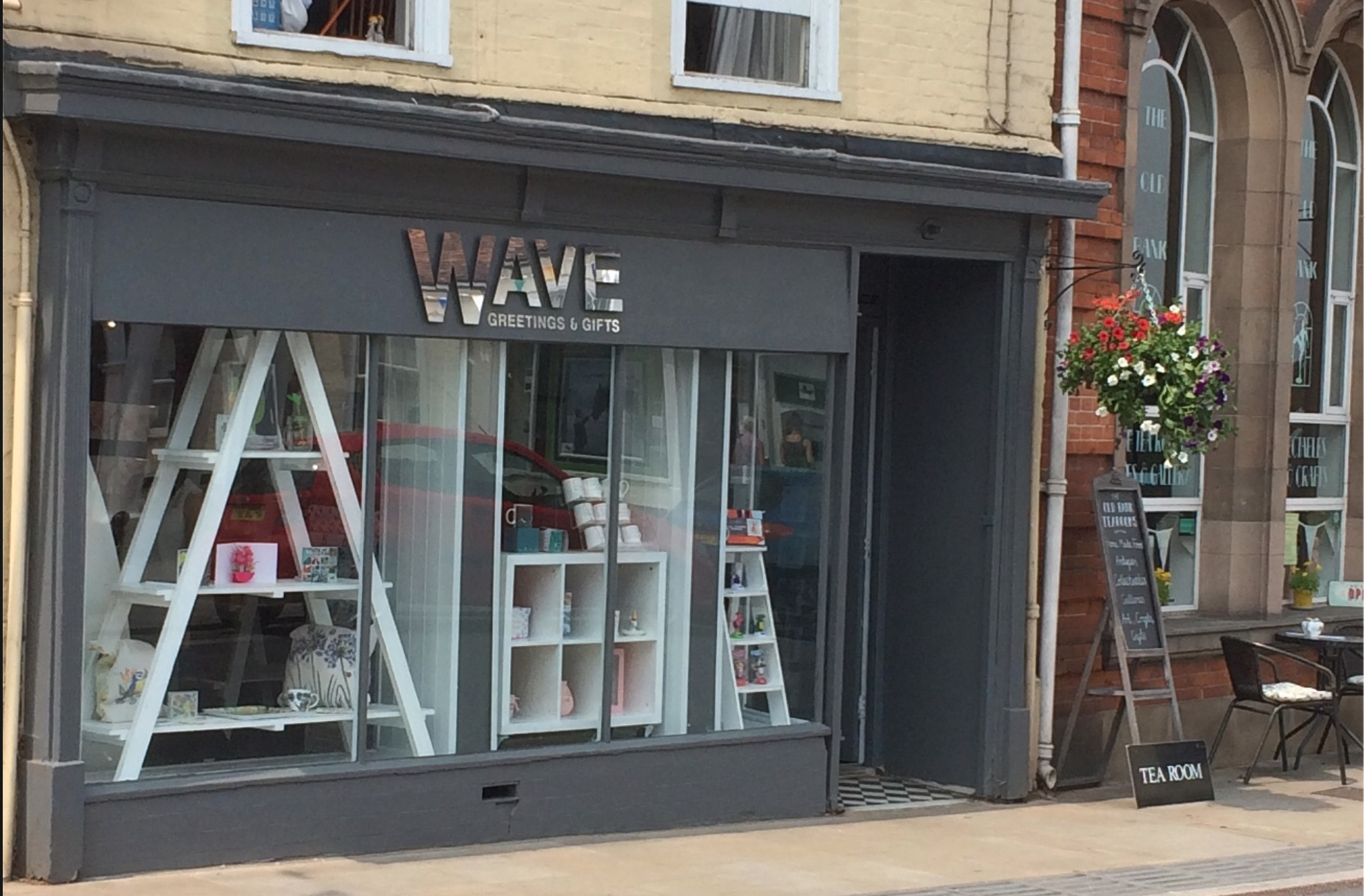 Above: Wave card and gift shop in Bungay.