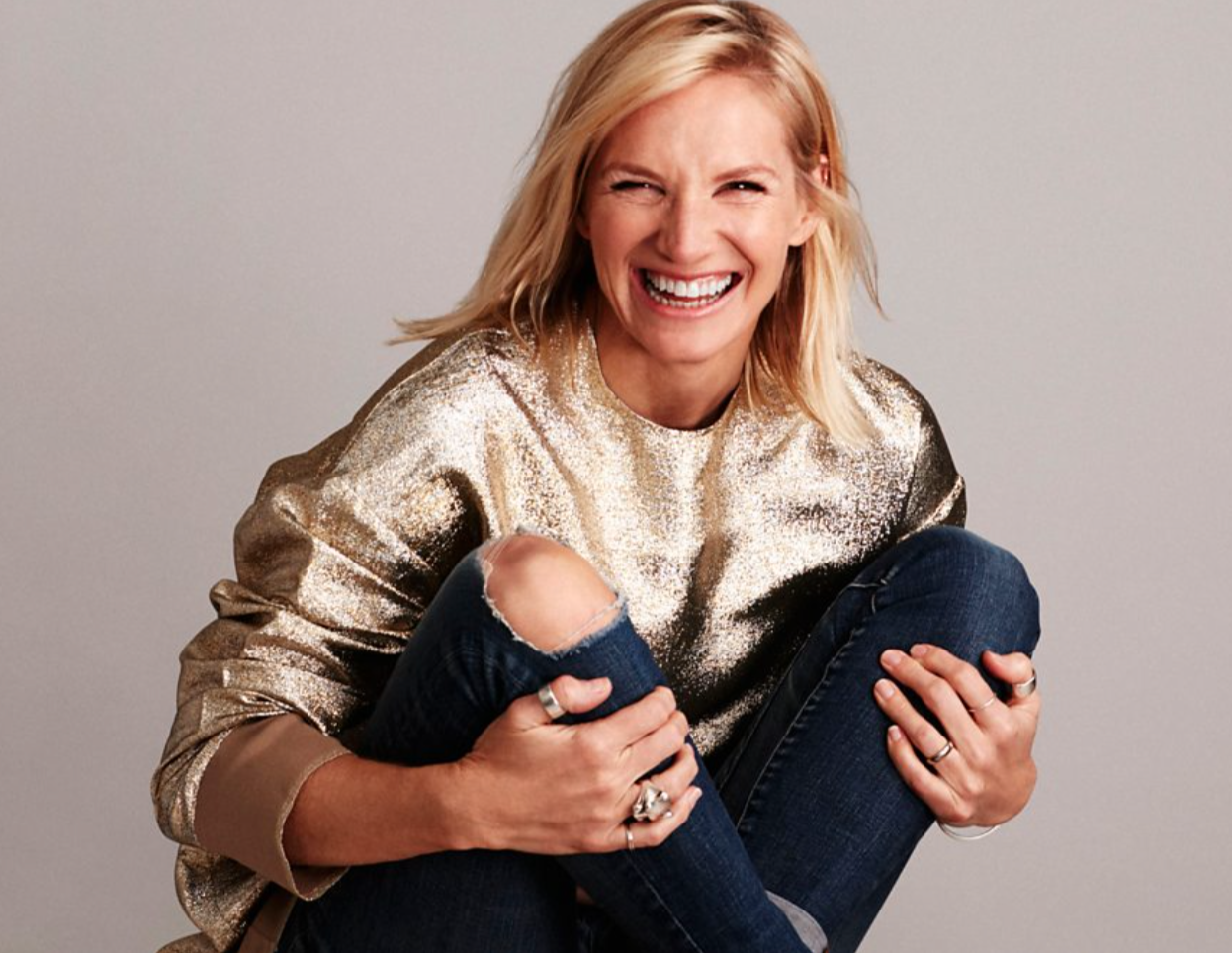 Above: BBC's presenter Jo Whiley gave a push for Christmas card sending on a recent edition of her evening Radio 2 programme.