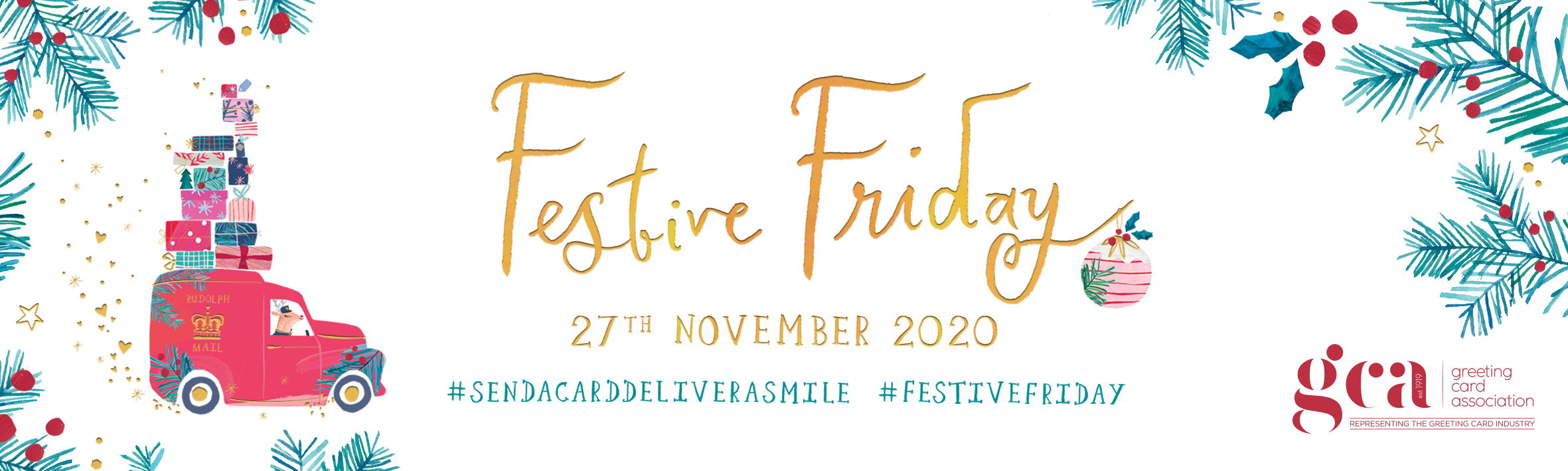 Above: A downloadable Festive Friday email banner.