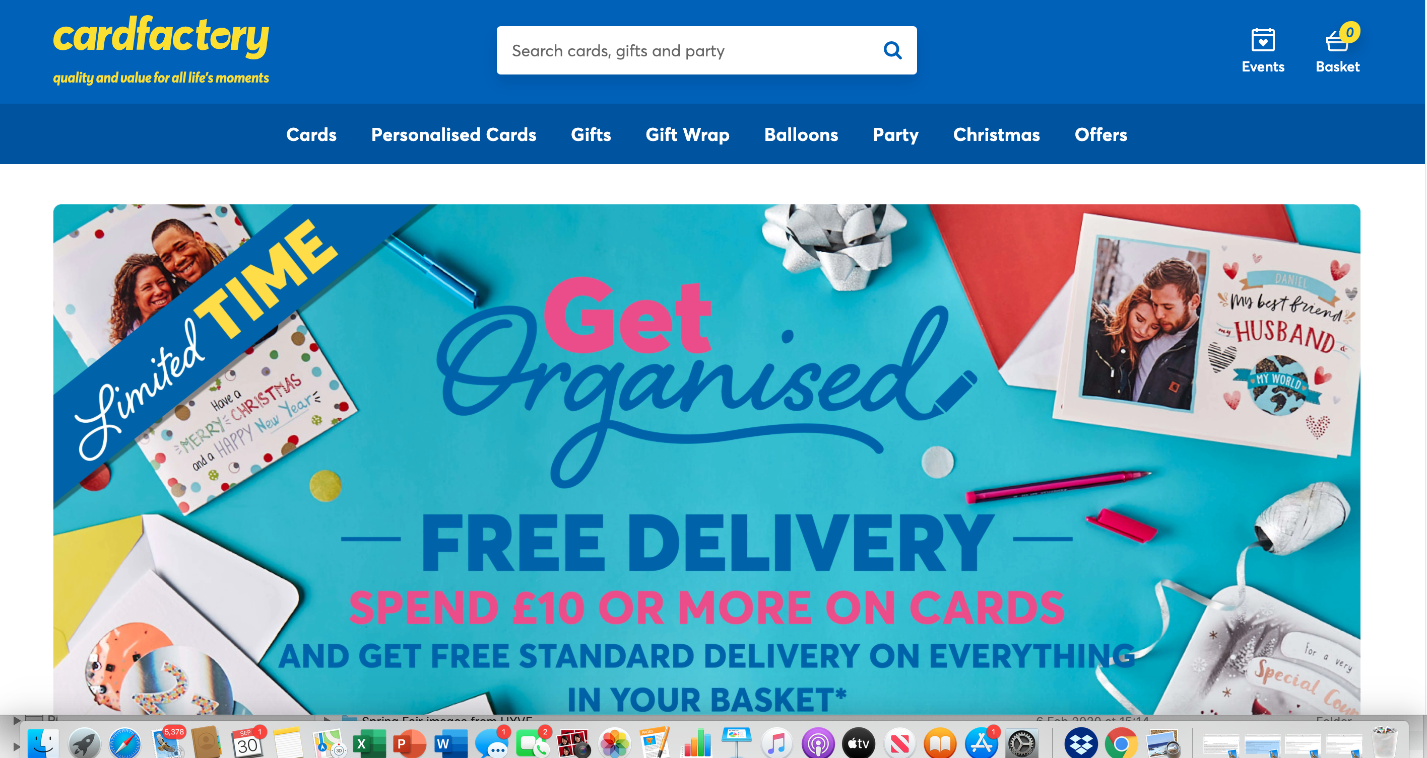 Above: Online sales have increased massively for Card Factory, with the retailer relaunching its website on July 2.