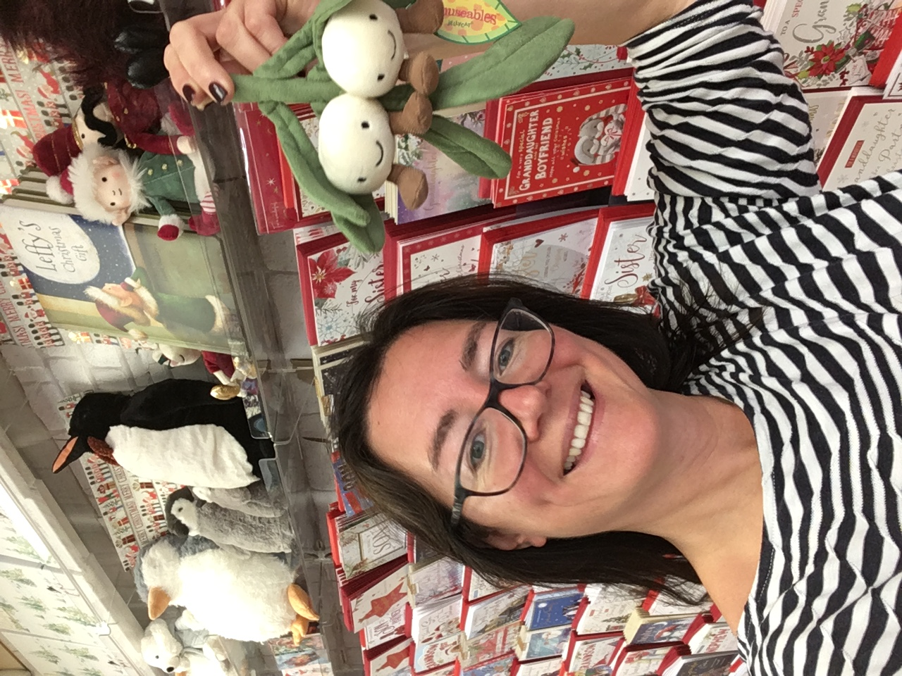 Above: Deborah Tingay of Southbourne Cards feels positive about Christmas sales.