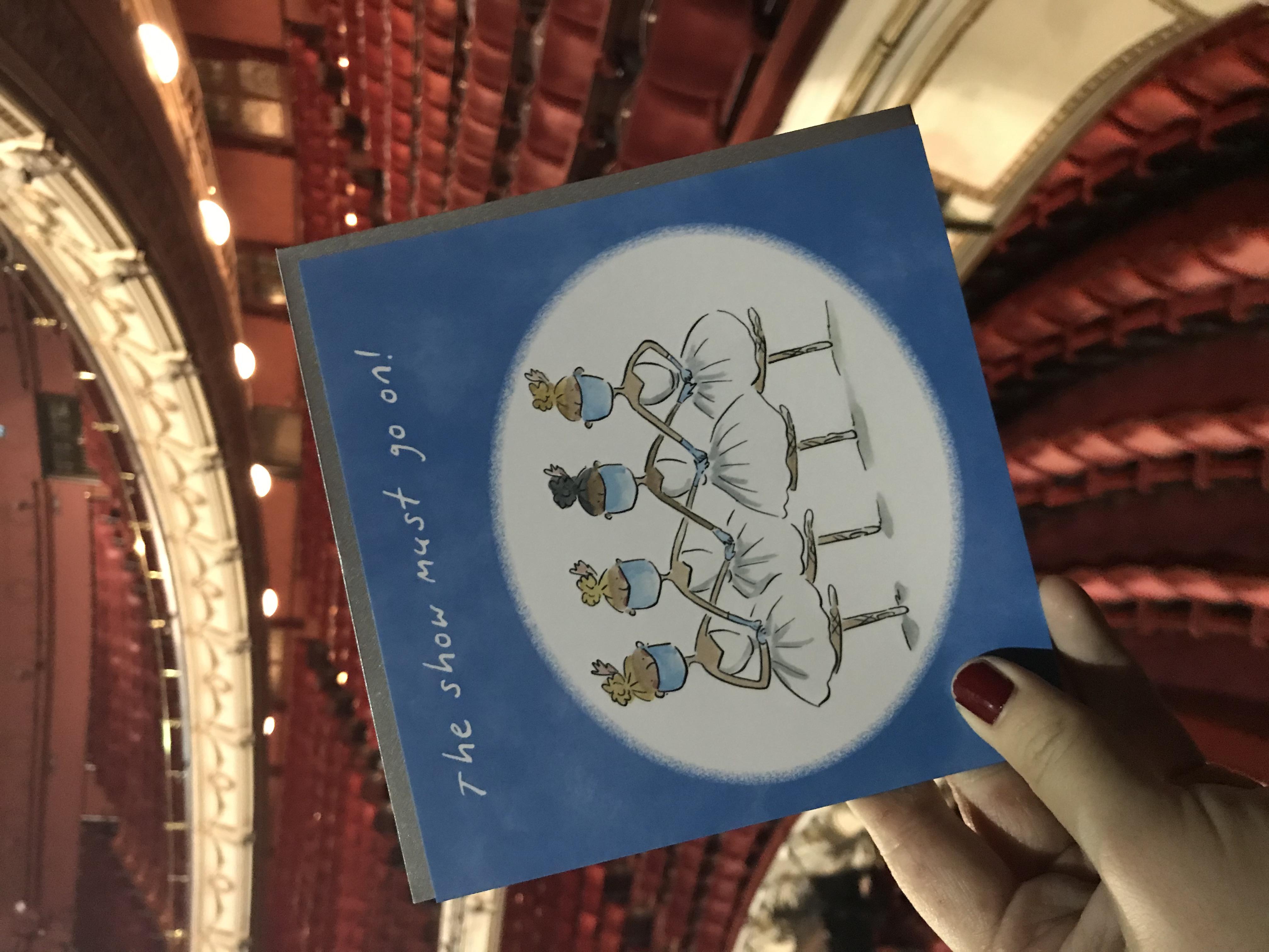 Above: Rosie Brooks' artwork on a Holy Mackerel card.