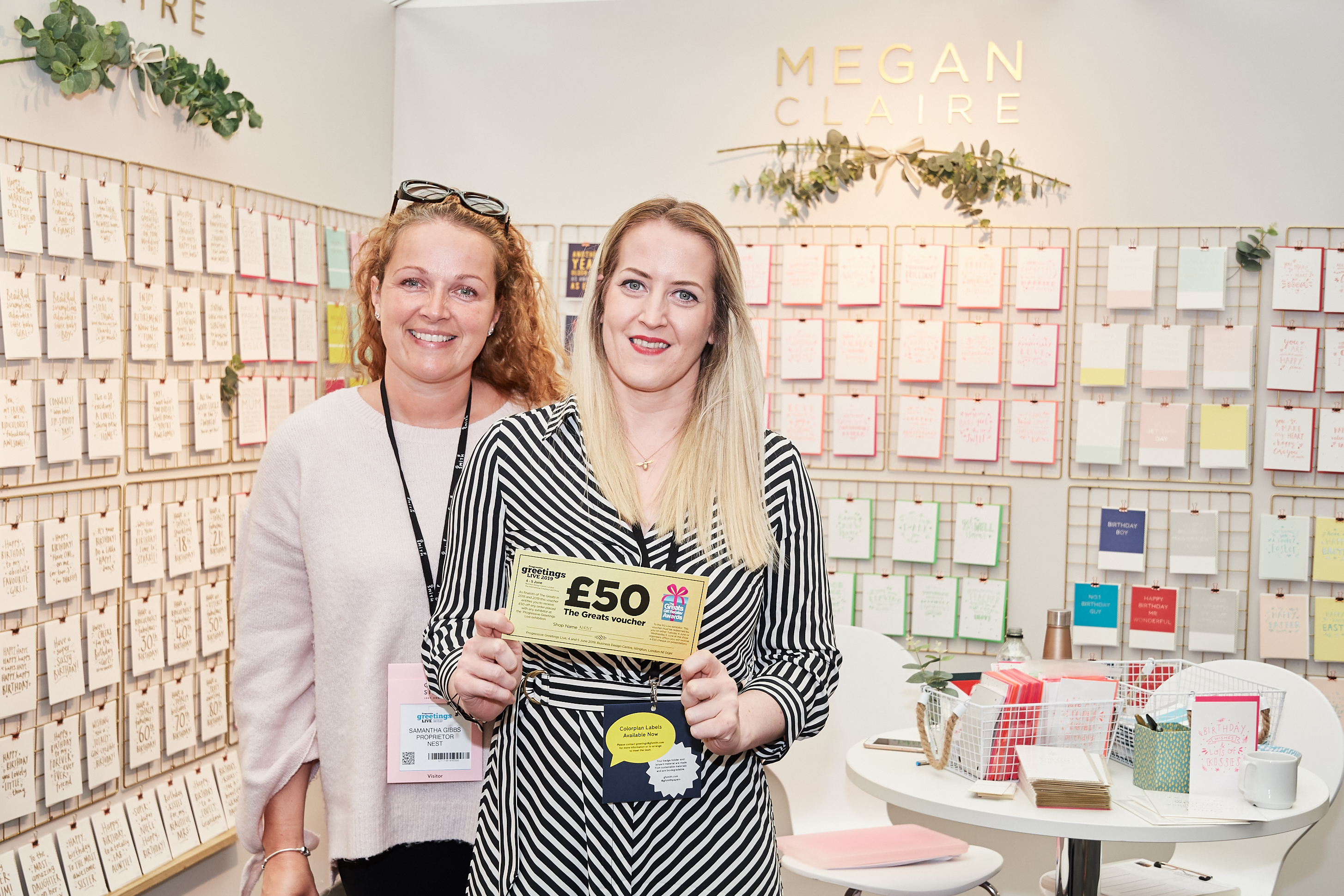 Above: Nest's Samantha Gibbs (left) with Megan Purdie, founder of Megan Claire at last year's PG Live show.