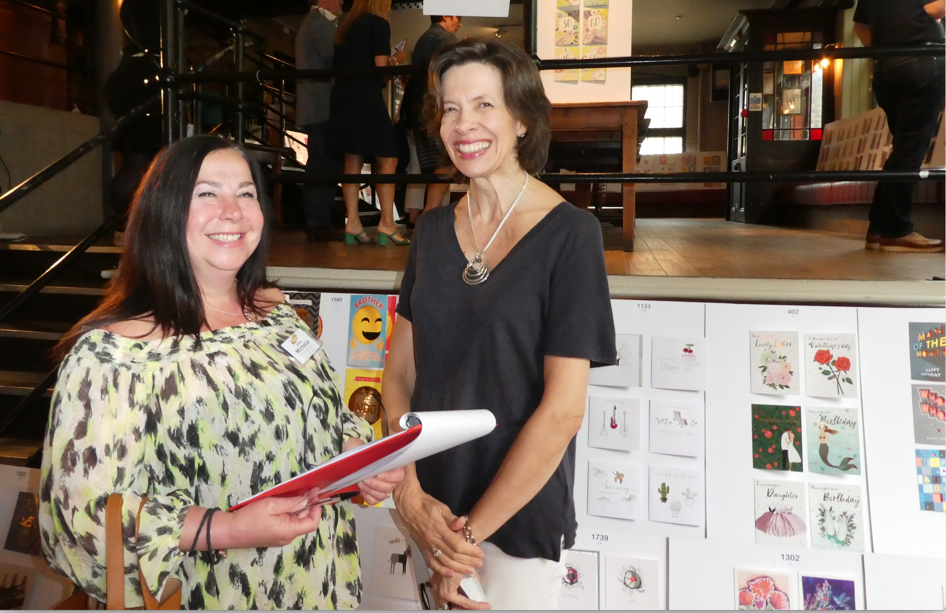 Above: Michelle Ellingham (left) at a Henries judging with the GCA's Amanda Fergusson.