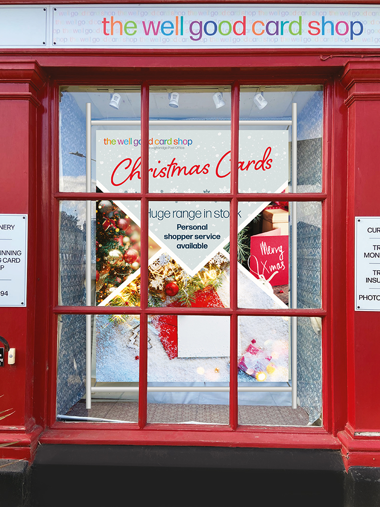 Above: The current window of Boroughbridge Post Office.