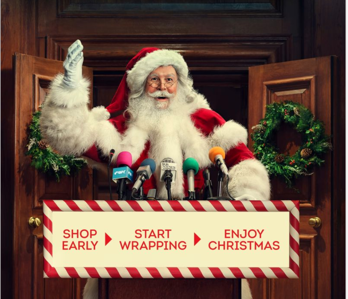 Above: A key image that the BRC is adopting in its 'shop early for Christmas' campaign.