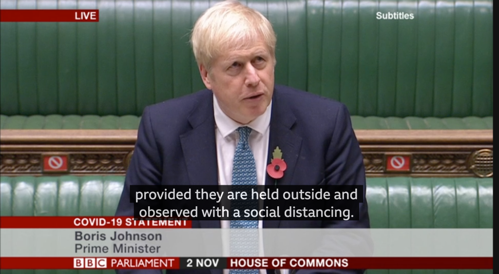 Above: Prime Minister Boris Johnson acknowledges that the lockdown will have a serious impact on England's retailers and other businesses.