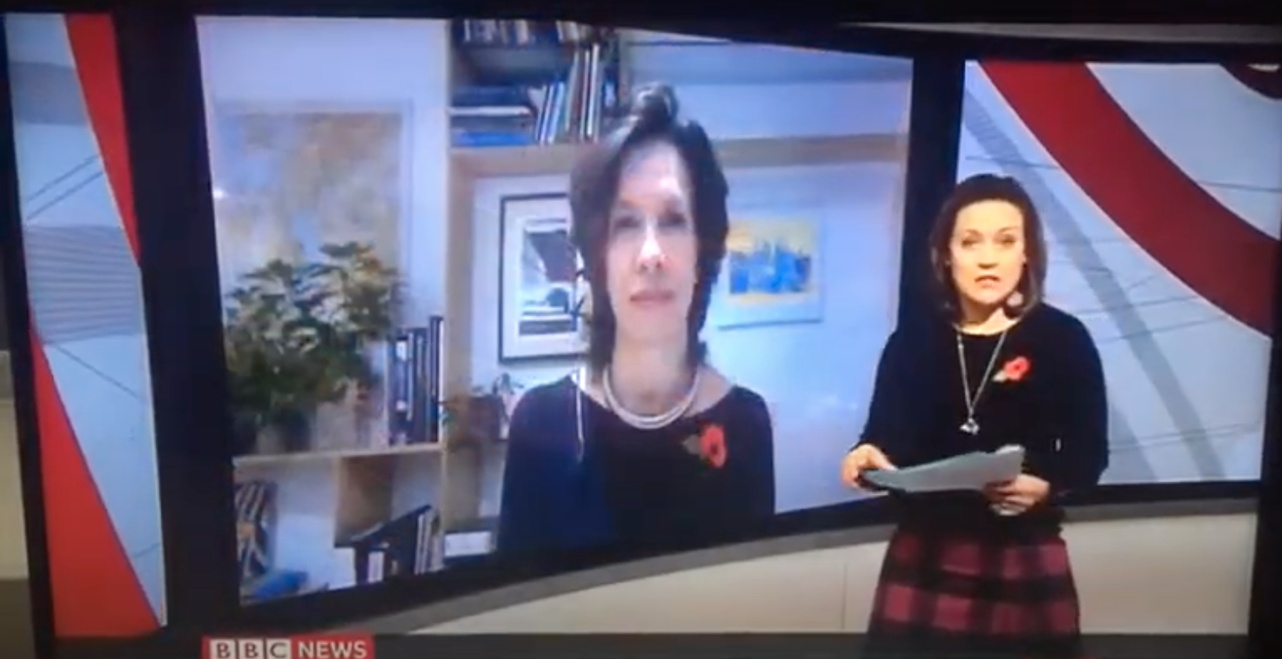Above: Amanda Fergusson, ceo of the GCA speaking on the BBC's early morning news programme yesterday.