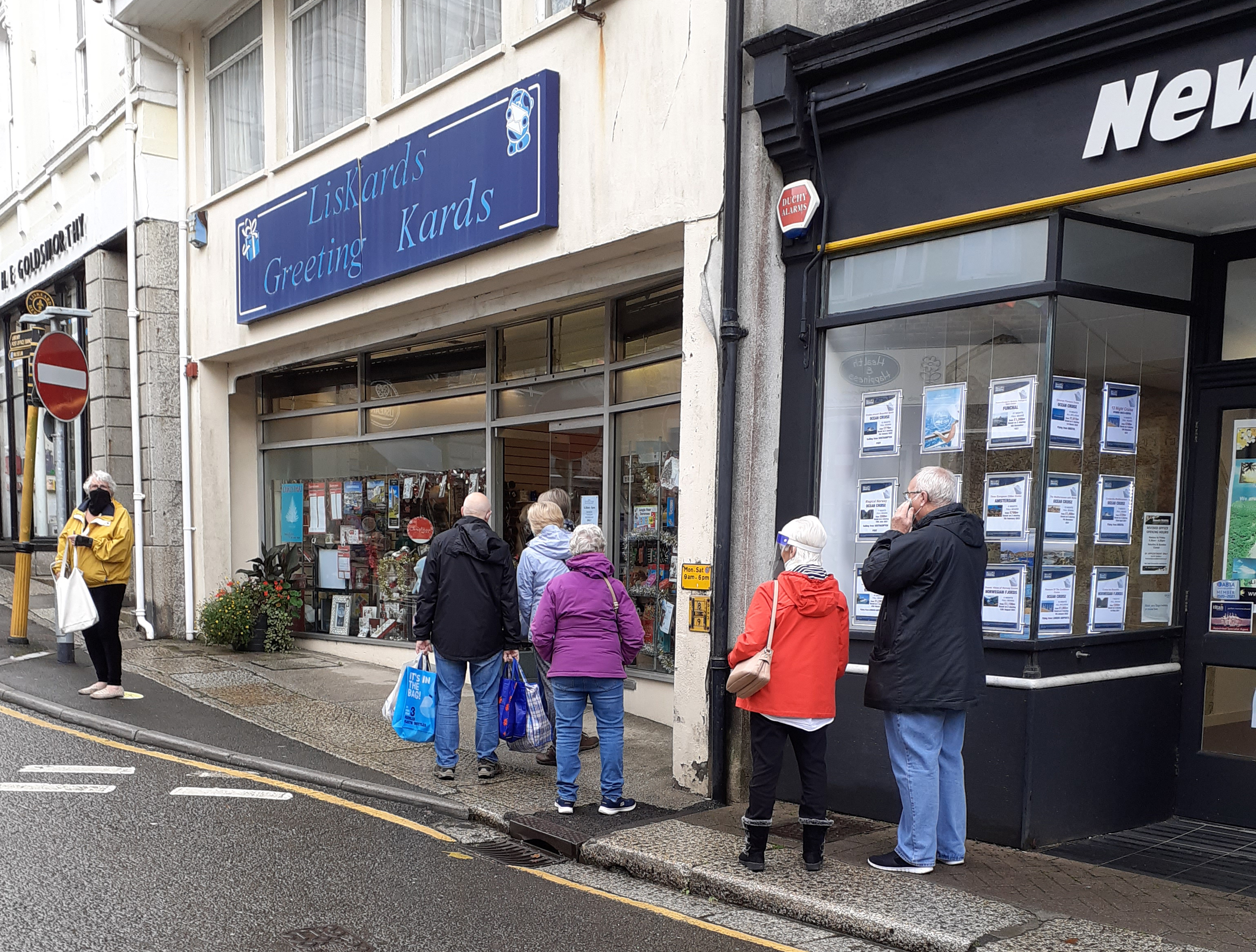 Above: Indie retailers Pam and Bob Malin of Occasions and LisKards (two card shops in Liskeard, Cornwall) sent an image of customers queuing outside one of their shops to their MP and local media to show the demand for greeting cards.