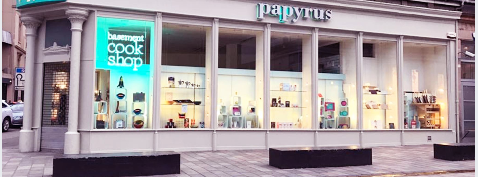 Above: Glasgow-based Papyrus is one of the many great card retailers that will have their Christmas takings curbed by the lockdown being imposed in Scotland.