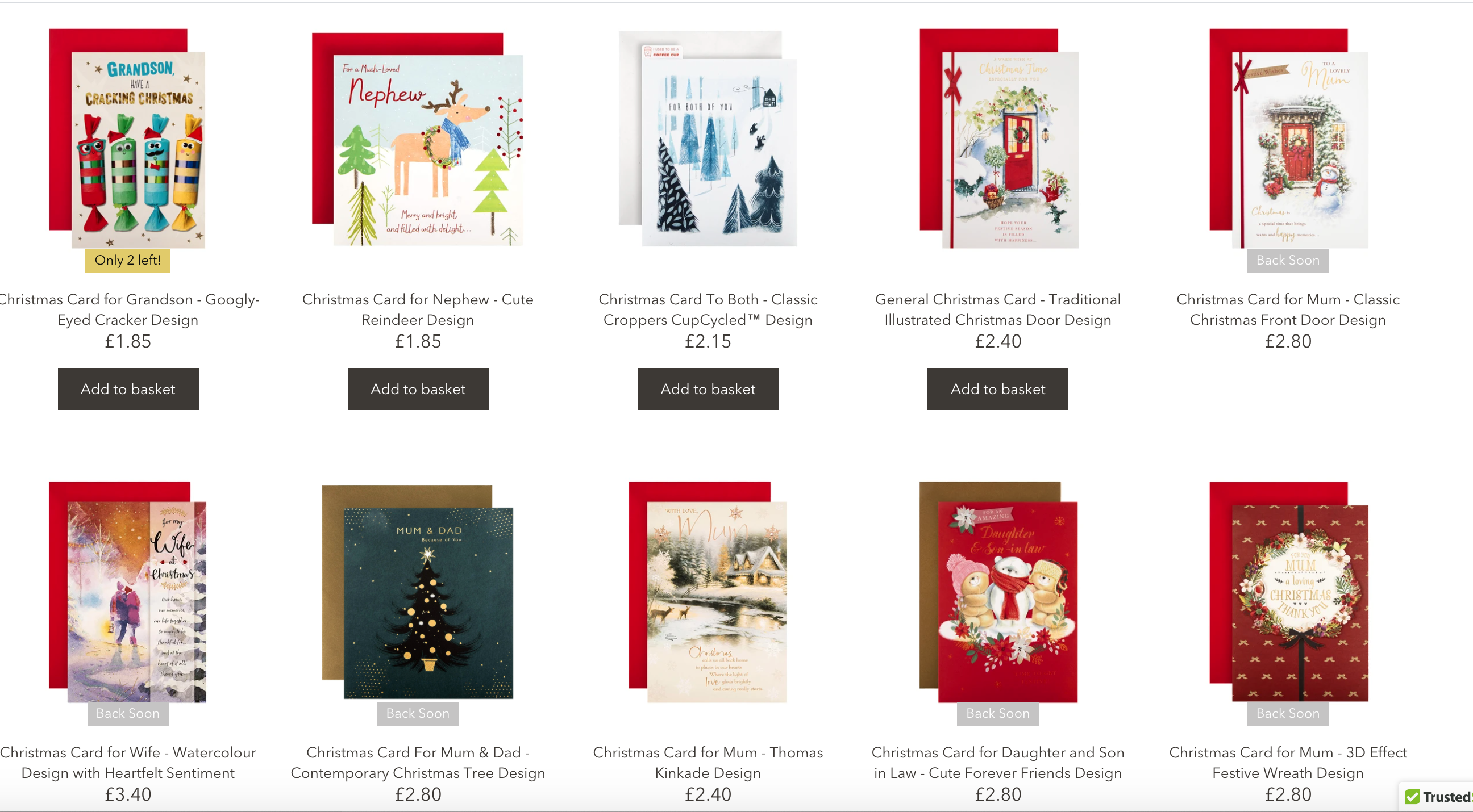 Above: Just a few of the Christmas singles that are being offered to the consumer via the new online platform.