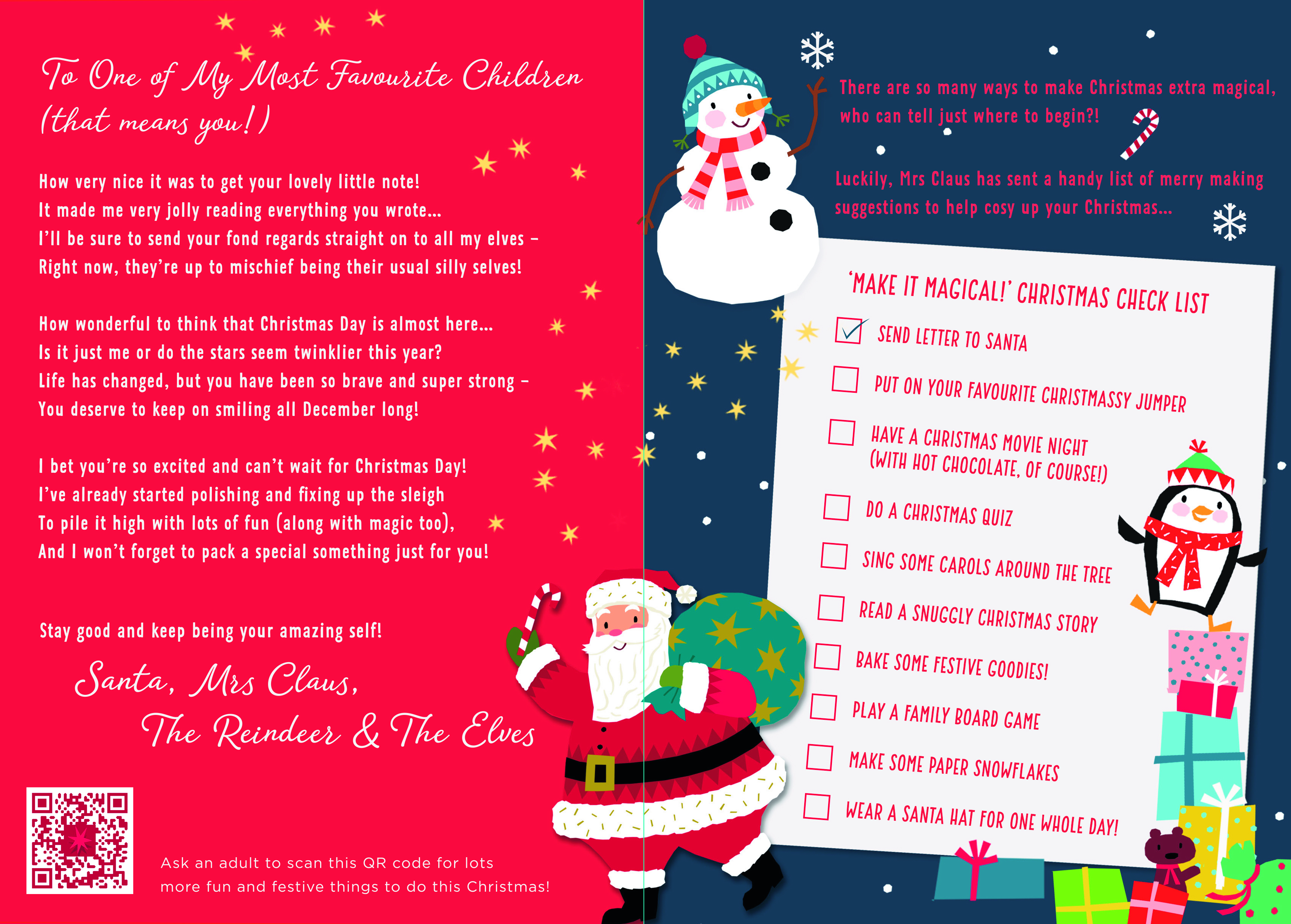 Above: Part of the promotional material to encourage children to write to Santa.