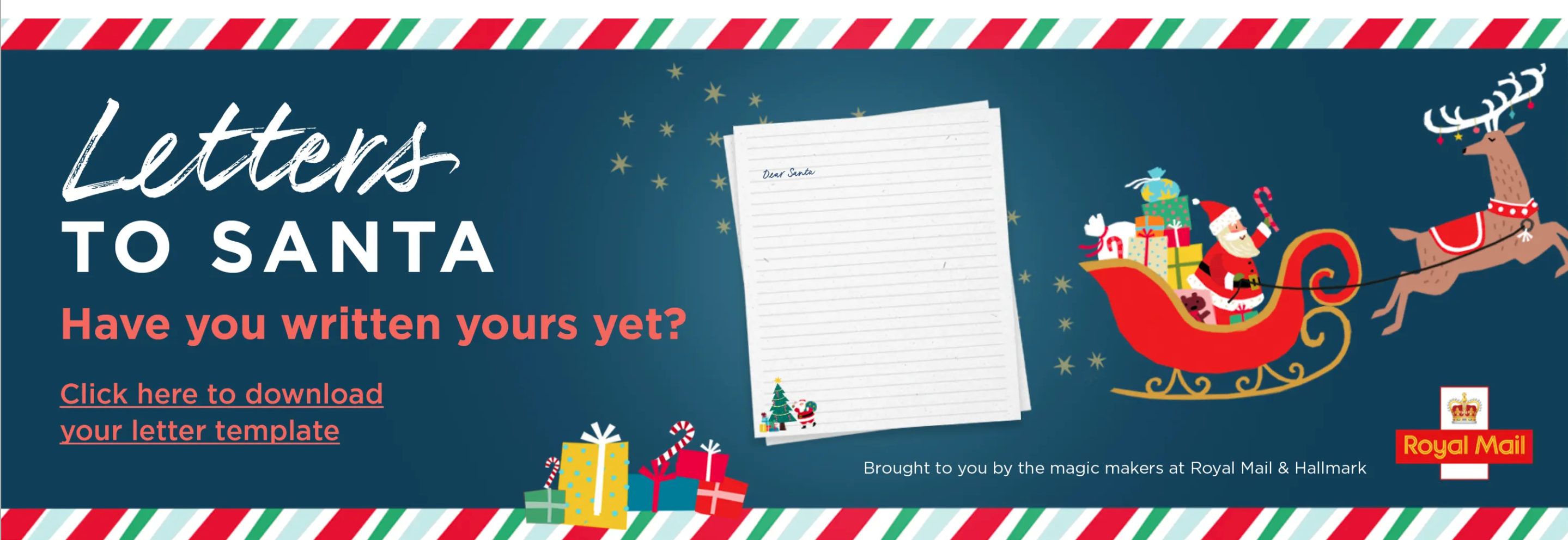 Above: Hallmark is also promoting the Letter to Santa initiative on its new consumer website.