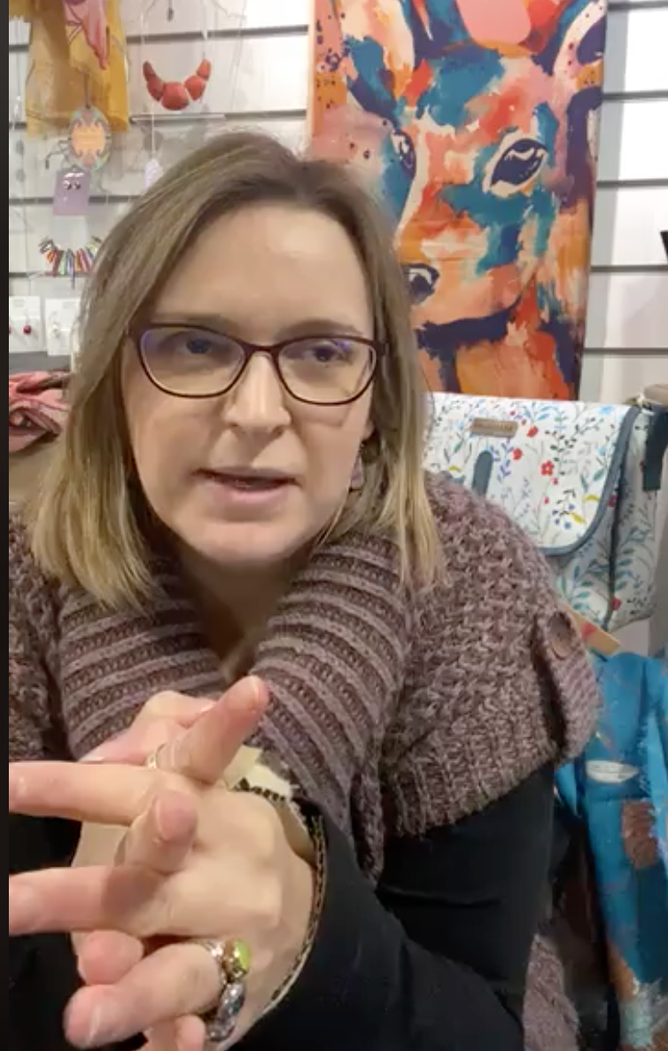 Above: Indie Tabi Marsh of Papilio at Heritage has helped to highlight the issue on her live Facebook videos to customers.