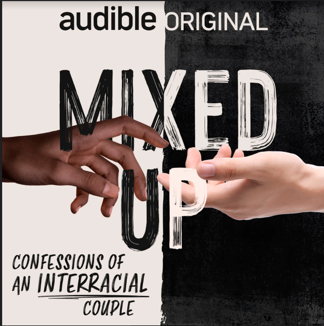 Above: The cover of Mixed Up, the audio book written by Tineka Smith and her husband Alex Court that is, quite rightly, attracting so much attention.