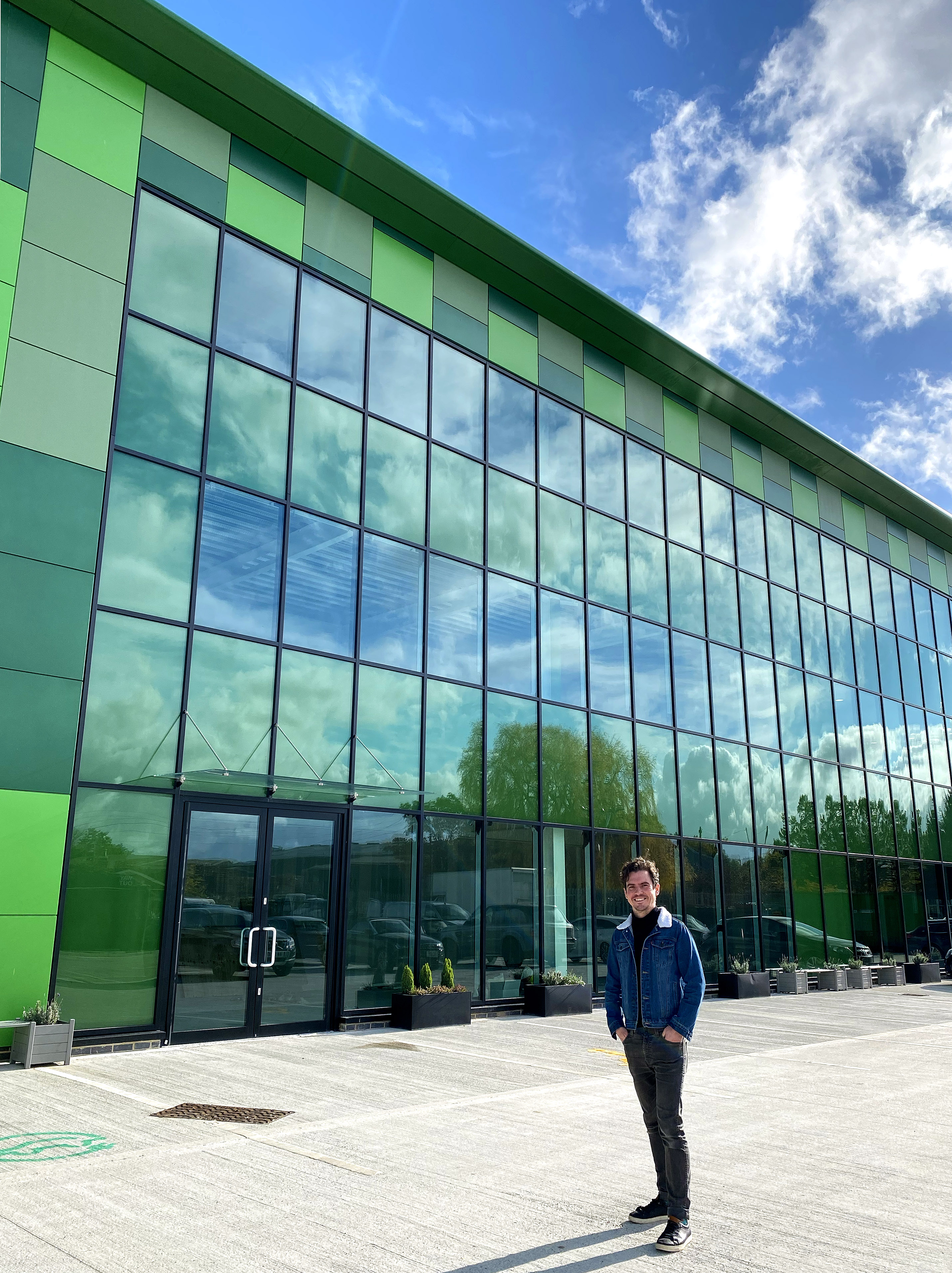 Above: Adam Short, md of The Imaging Centre outside the new HQ.