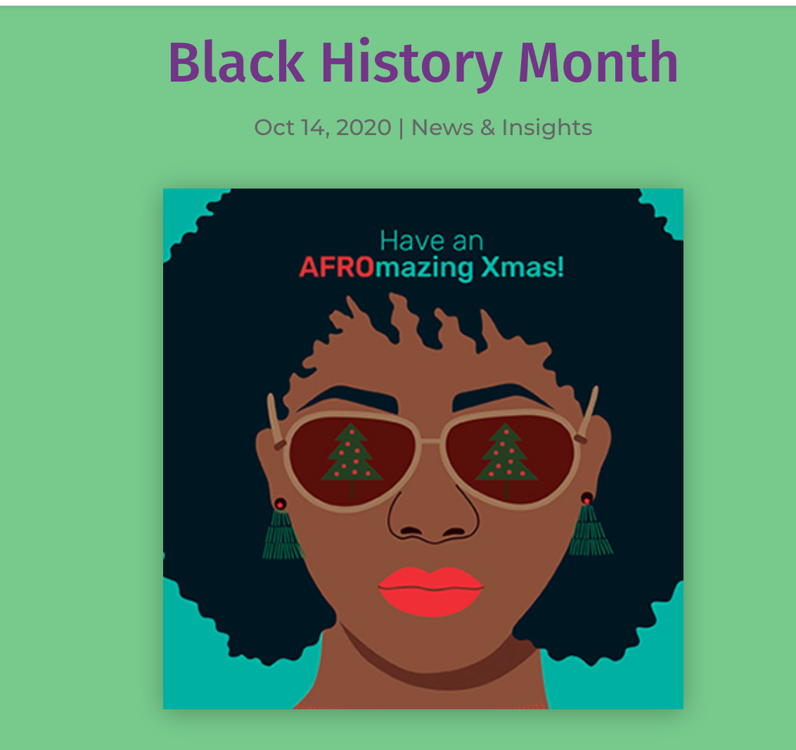 Above: The new GCA website includes a blog on Black History Month.