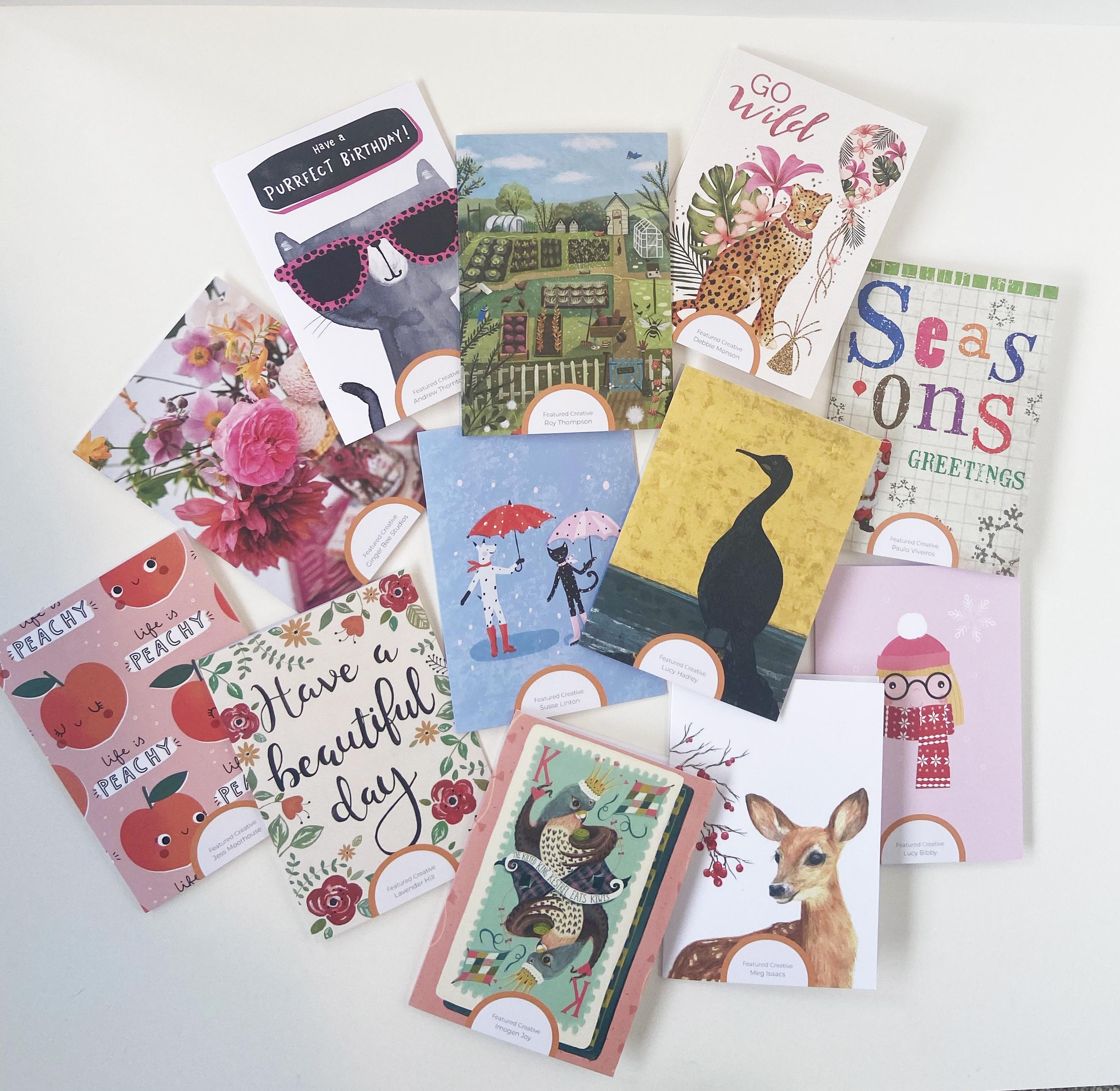 Above: The portfolio of artists means Creative Sparrow can offer a wide selection of styles to be licensed for greeting cards and other products.