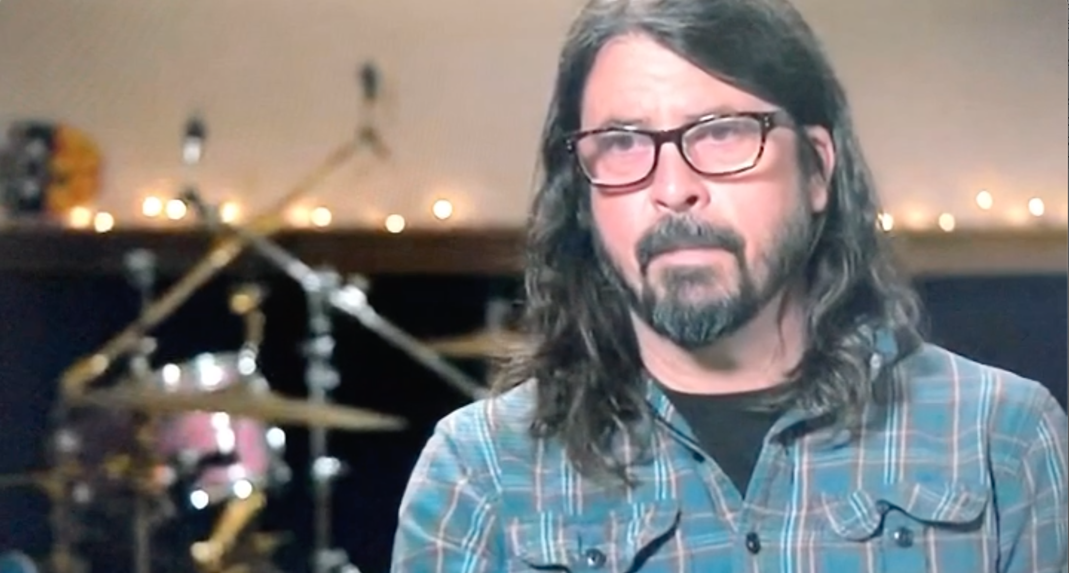 Above: Foo Fighters' front man, Dave Grohl revealed how it was because of a greeting card he started the rock band.
