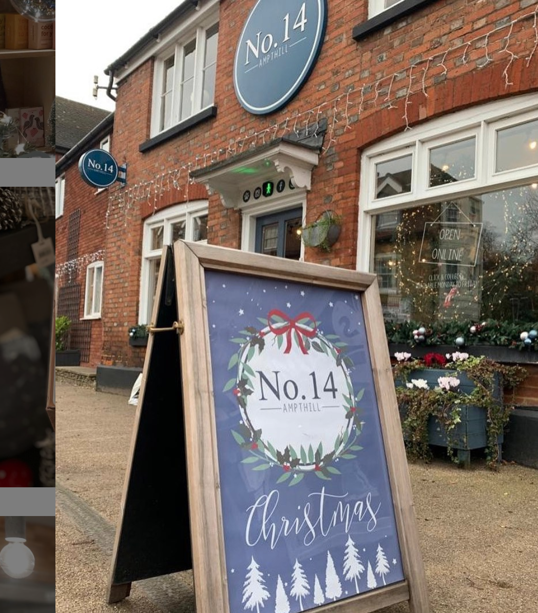 Above: A festive welcome from No.14 Ampthill prior to the forced closure on Saturday.
