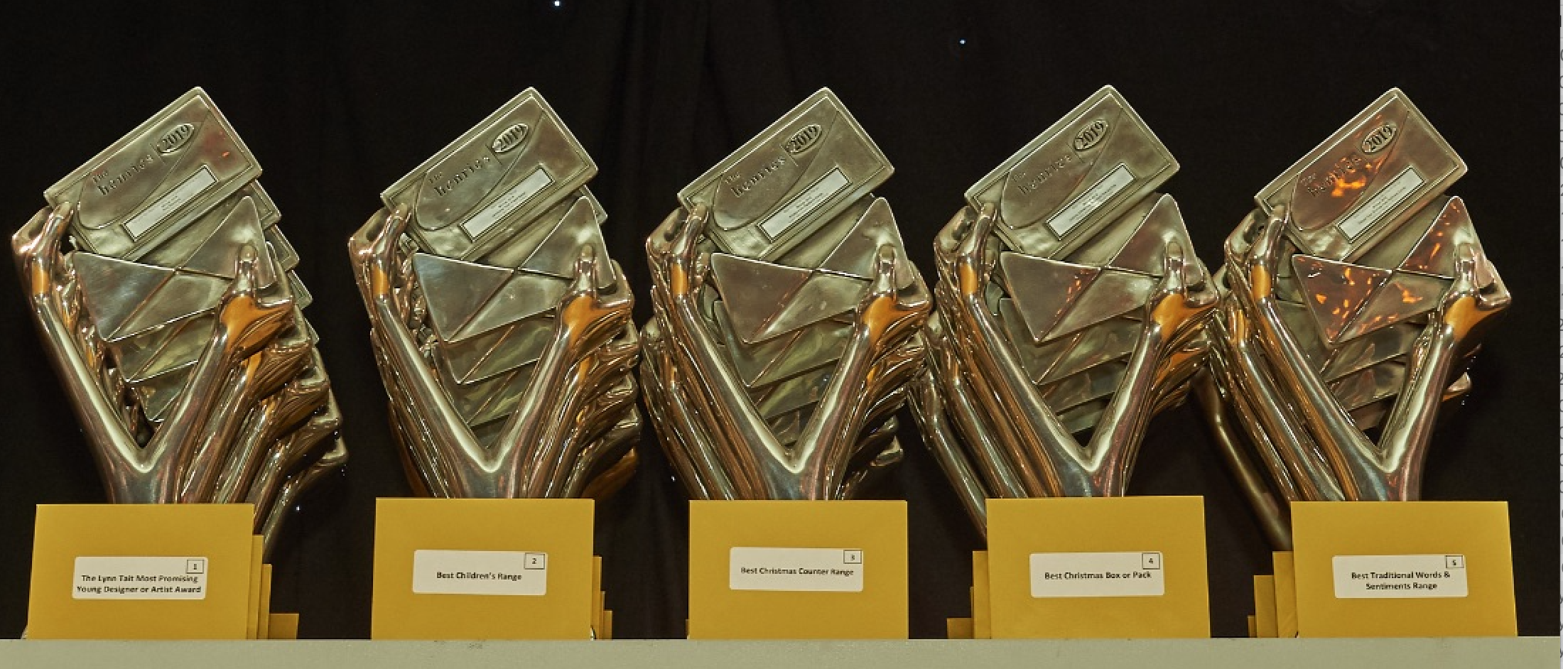 Above: There will be 'real' trophies that will be delivered to the winners soon after the awards event.