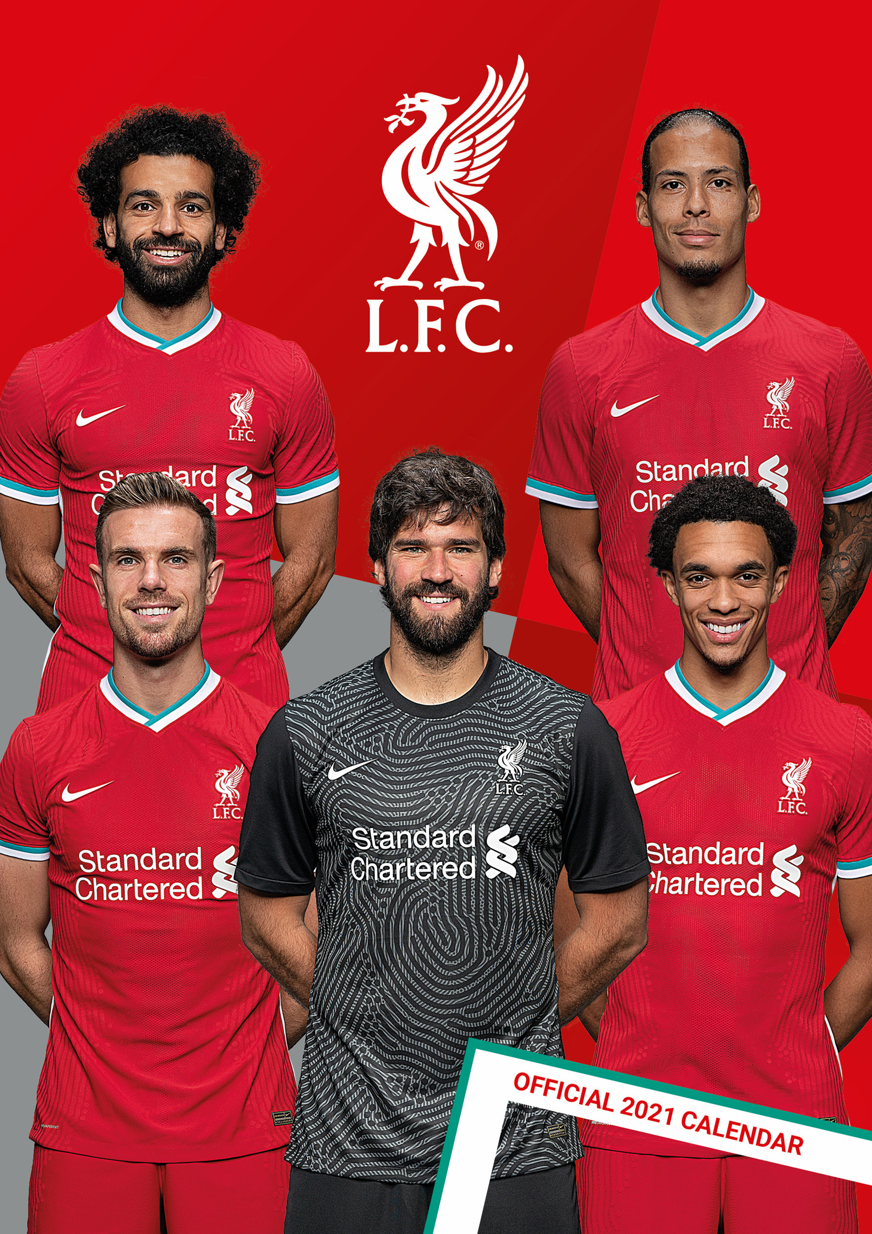 Above: The Liverpool FC officially licensed calendar took the number one slot again this year in the Danilo league table.