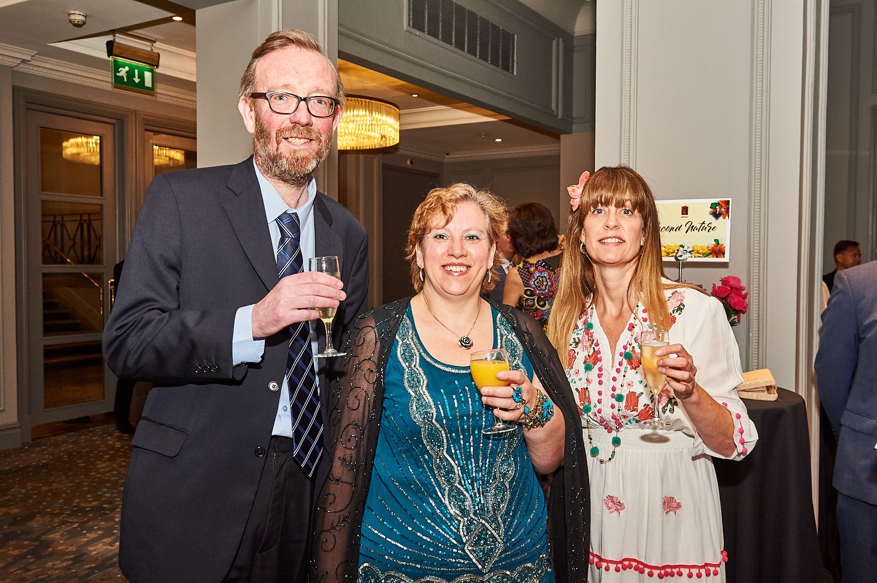 Above: Film maker Gale Astley (right) with independent retailers Beverley and John Hayworth of Blue Rose Gifts (in Heywood) at The Retas retail awards last year.