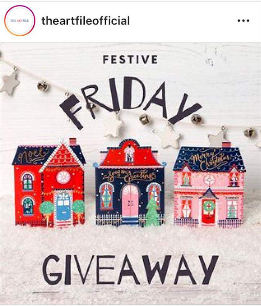 Above: The Art File instigated a Festive Friday giveaway.