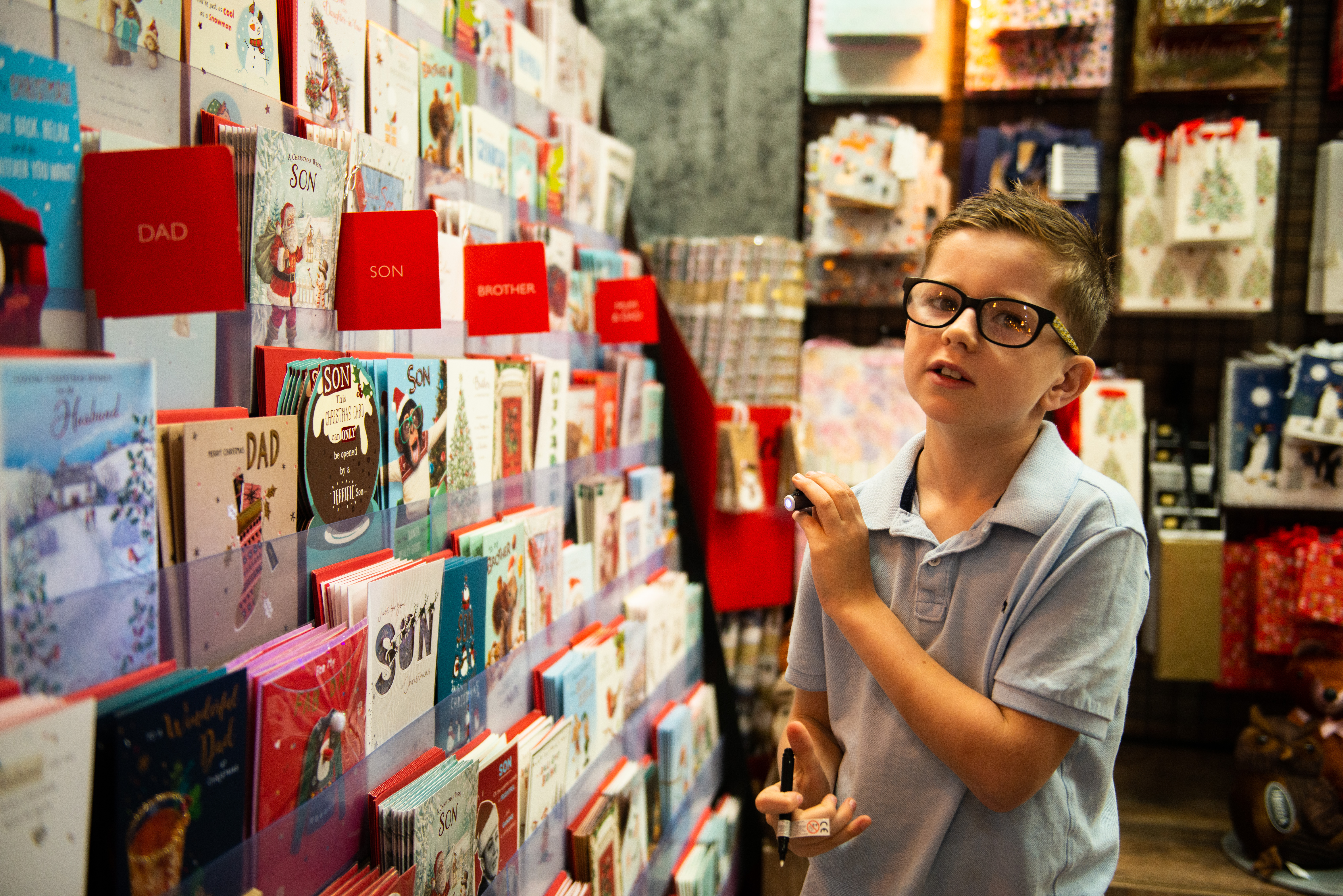 Above: Henry next to the greeting card display, which is being supplied a UKG brokerage scheme.