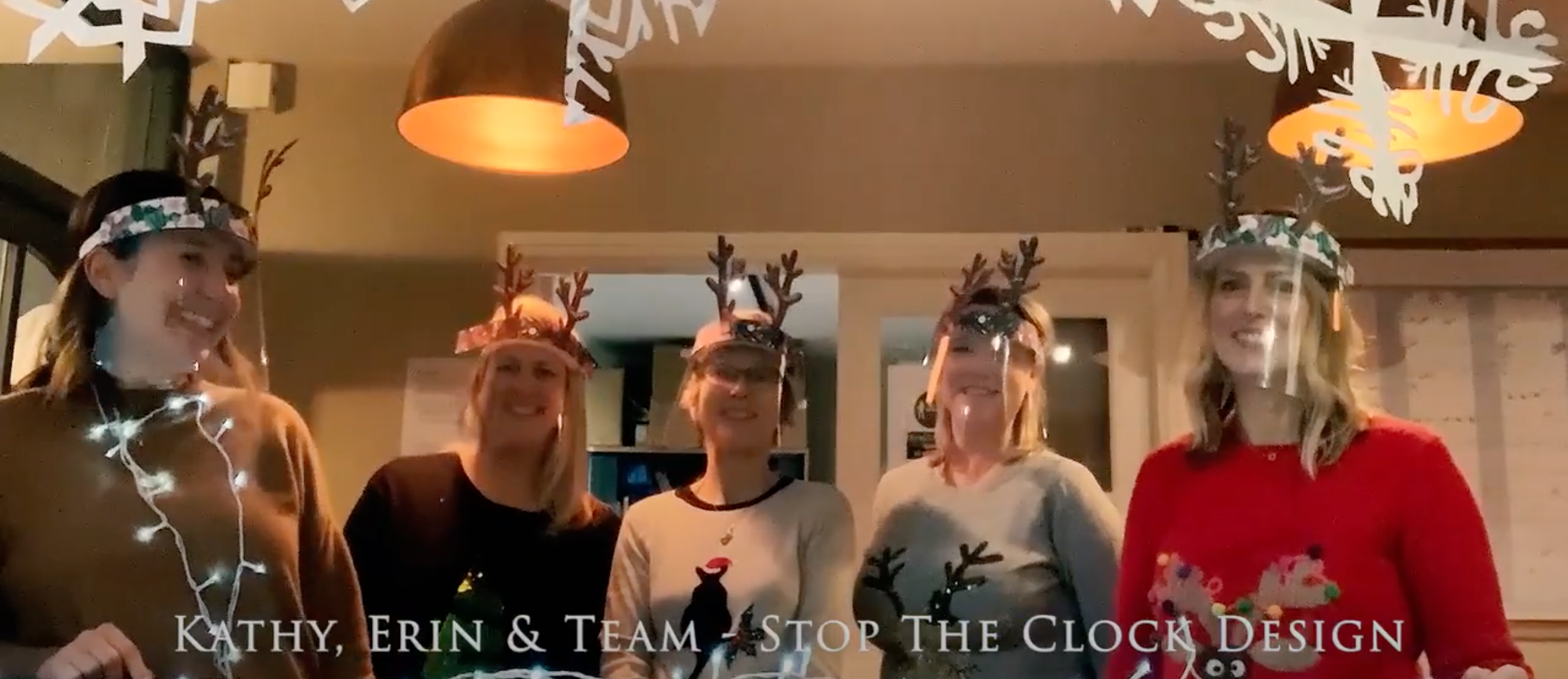 Above: The Stop the Clock Design clan masked up for the filming.