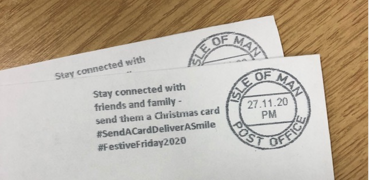 Above: The ever supportive Isle of Man Post came up trumps for Festive Friday with its special postmark.