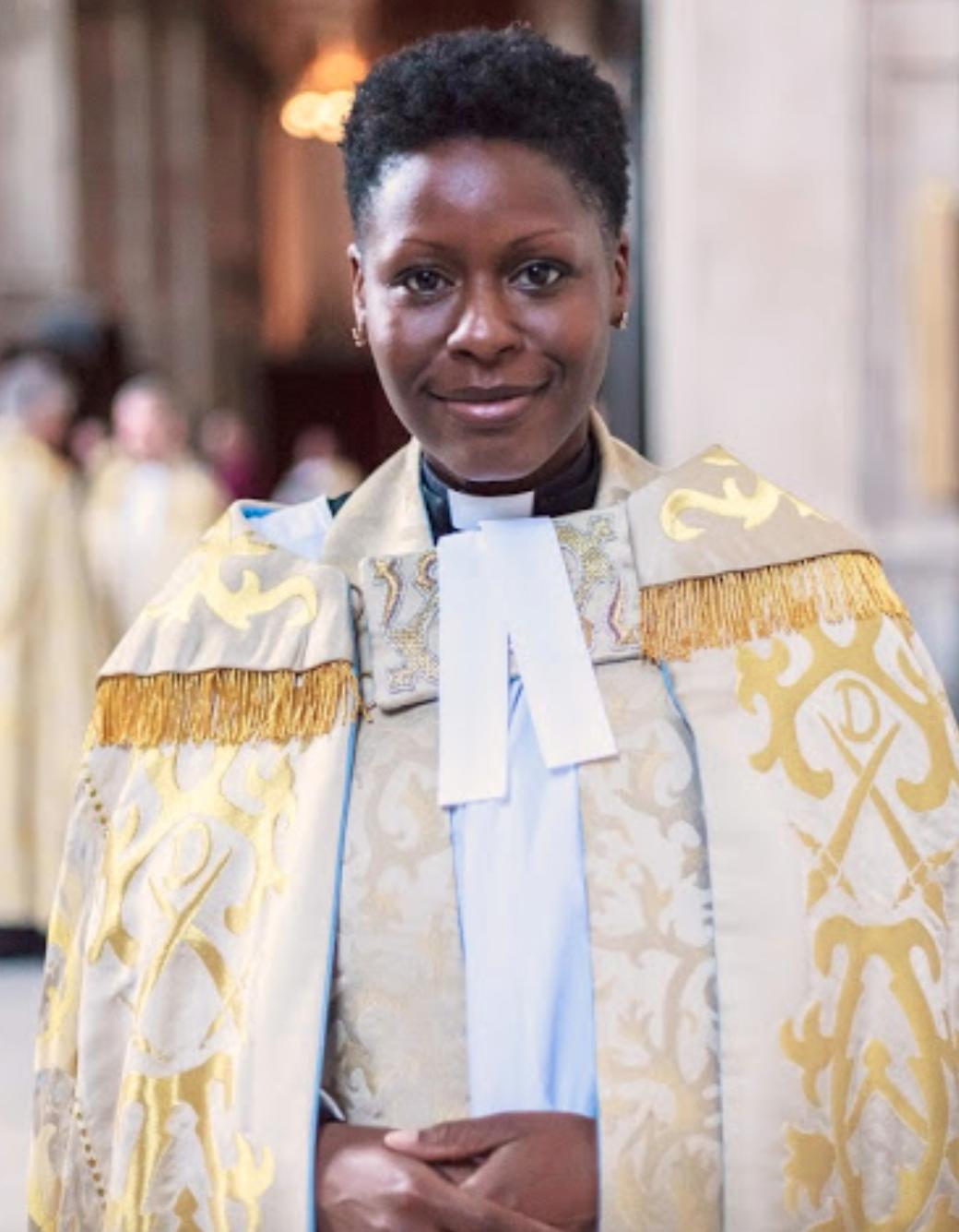 Above: The Archdeacon of Hackney, LizAdekunle is a big Christmas card fan.
