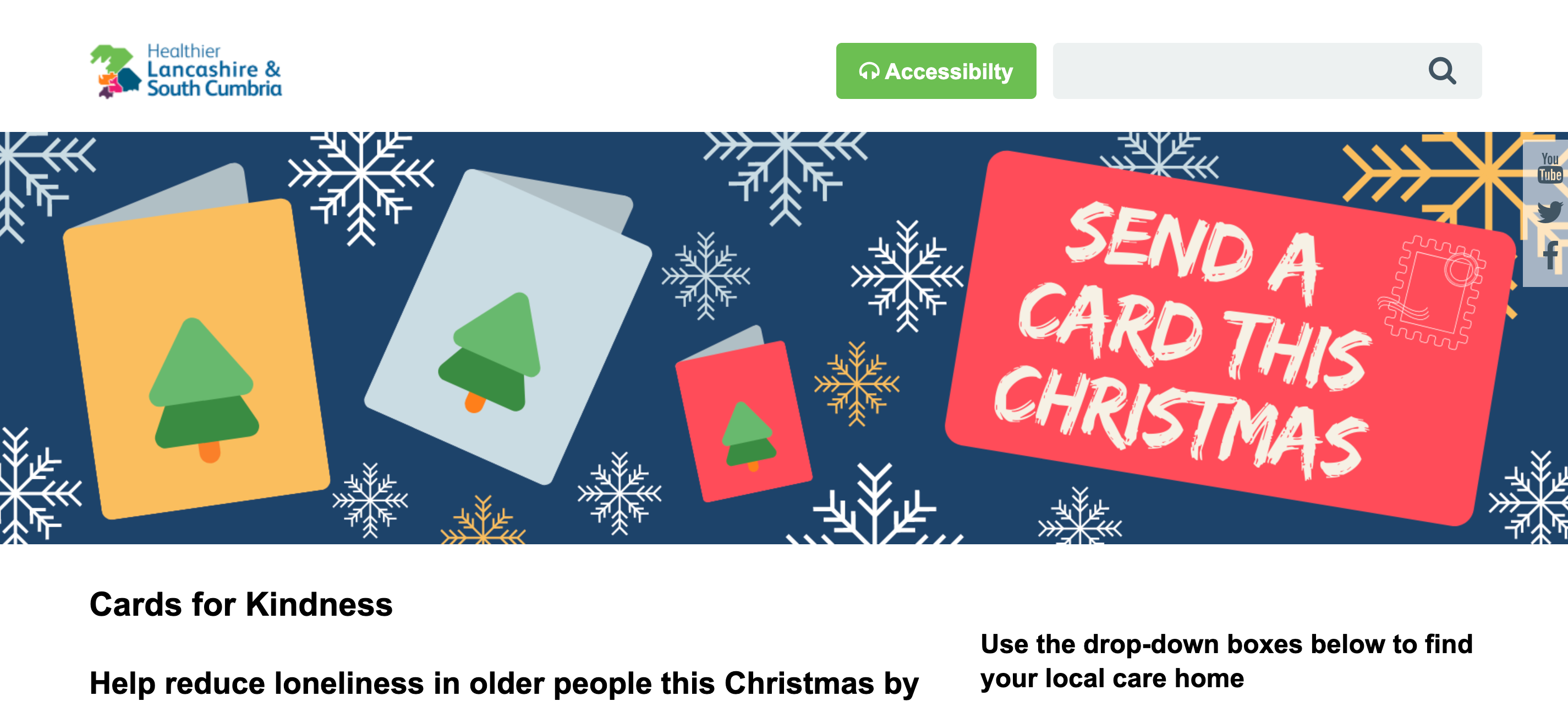 Above: The Cards for Kindness initiative is being spearheaded in Cumbria and Lancashire.