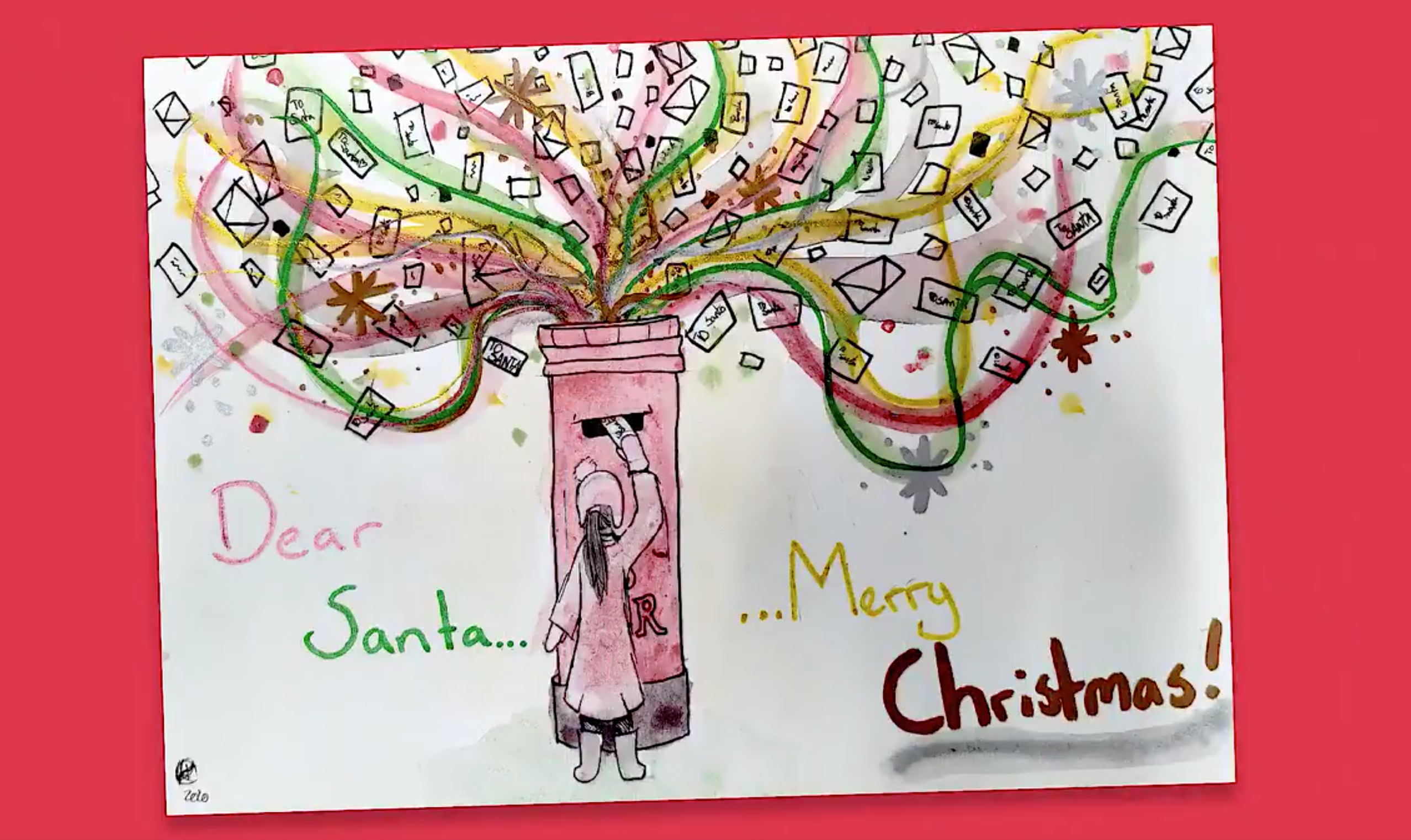Above: One of the entries to Royal Mail's design a Christmas card consumer competition.